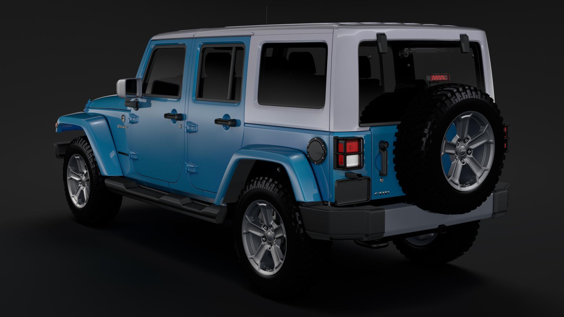 jeep wrangler unlimited chief jk 2017 3d model max fbx c4d lwo ma mb hrc xsi obj 276975
