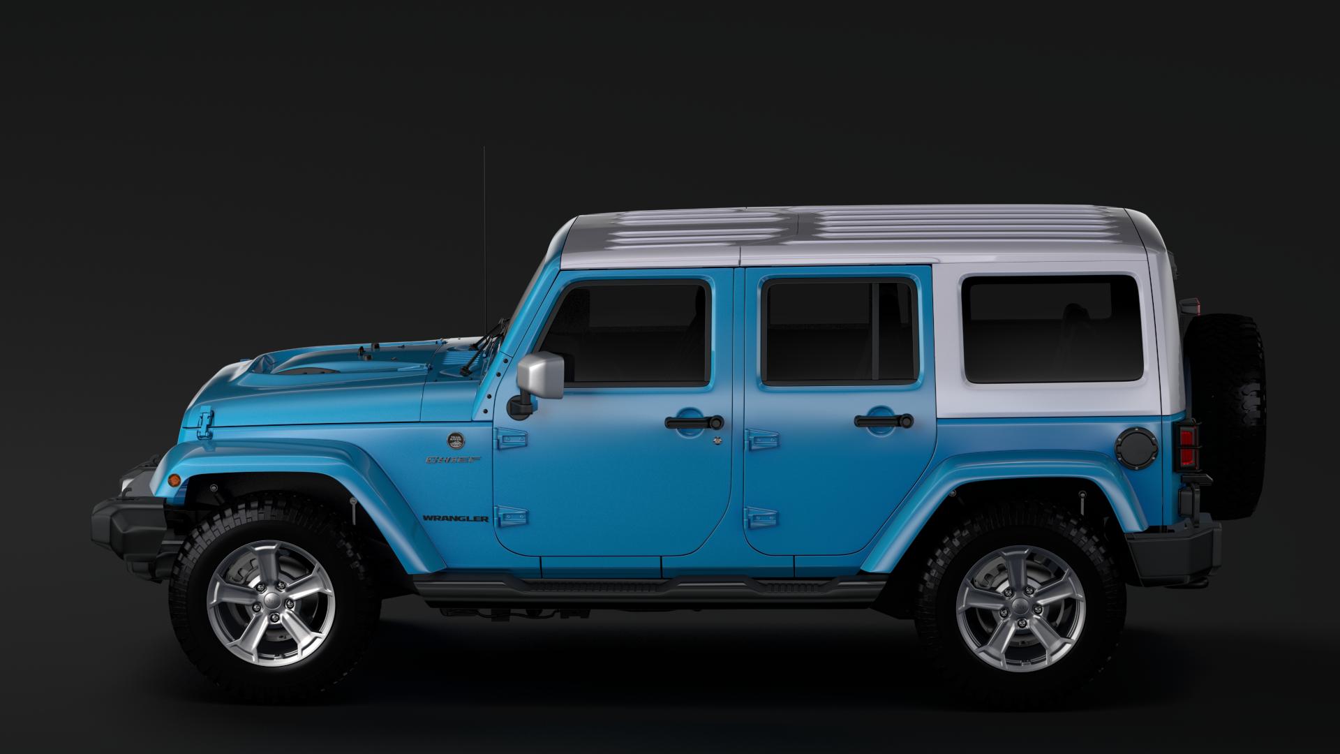 jeep wrangler unlimited chief jk 2017 3d model max fbx c4d lwo ma mb hrc xsi obj 276977