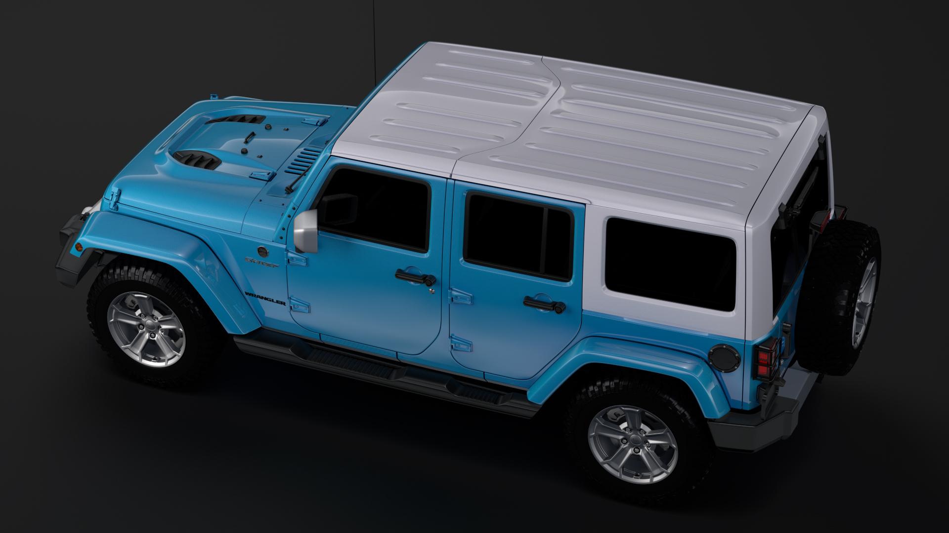 jeep wrangler unlimited chief jk 2017 3d model max fbx c4d lwo ma mb hrc xsi obj 276979
