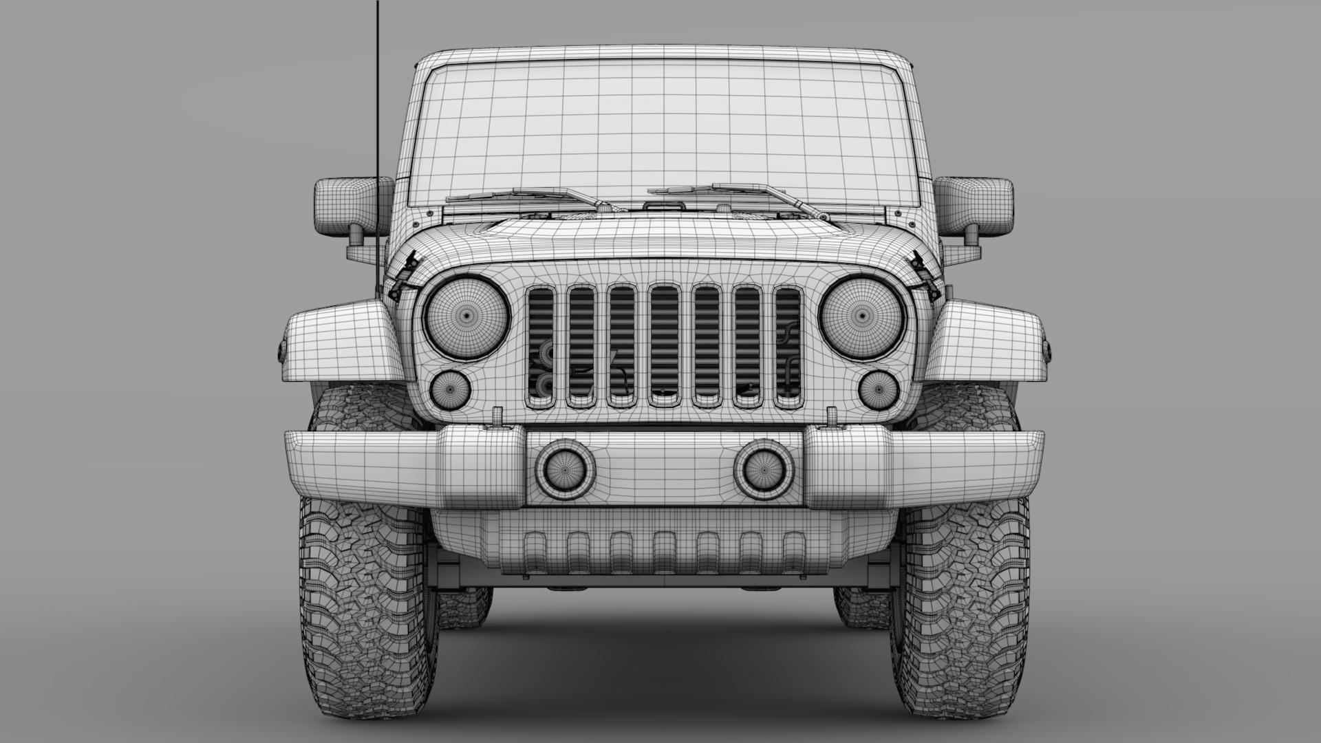 jeep wrangler unlimited chief jk 2017 3d model max fbx c4d lwo ma mb hrc xsi obj 276980
