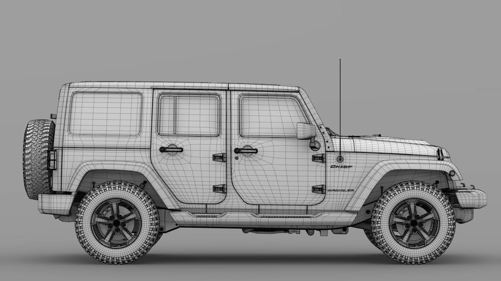 jeep wrangler unlimited chief jk 2017 3d model max fbx c4d lwo ma mb hrc xsi obj 276981
