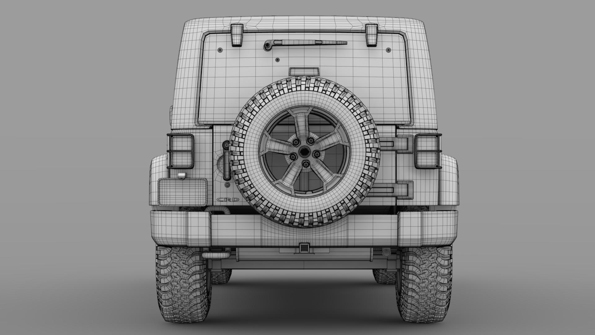 jeep wrangler unlimited chief jk 2017 3d model max fbx c4d lwo ma mb hrc xsi obj 276982