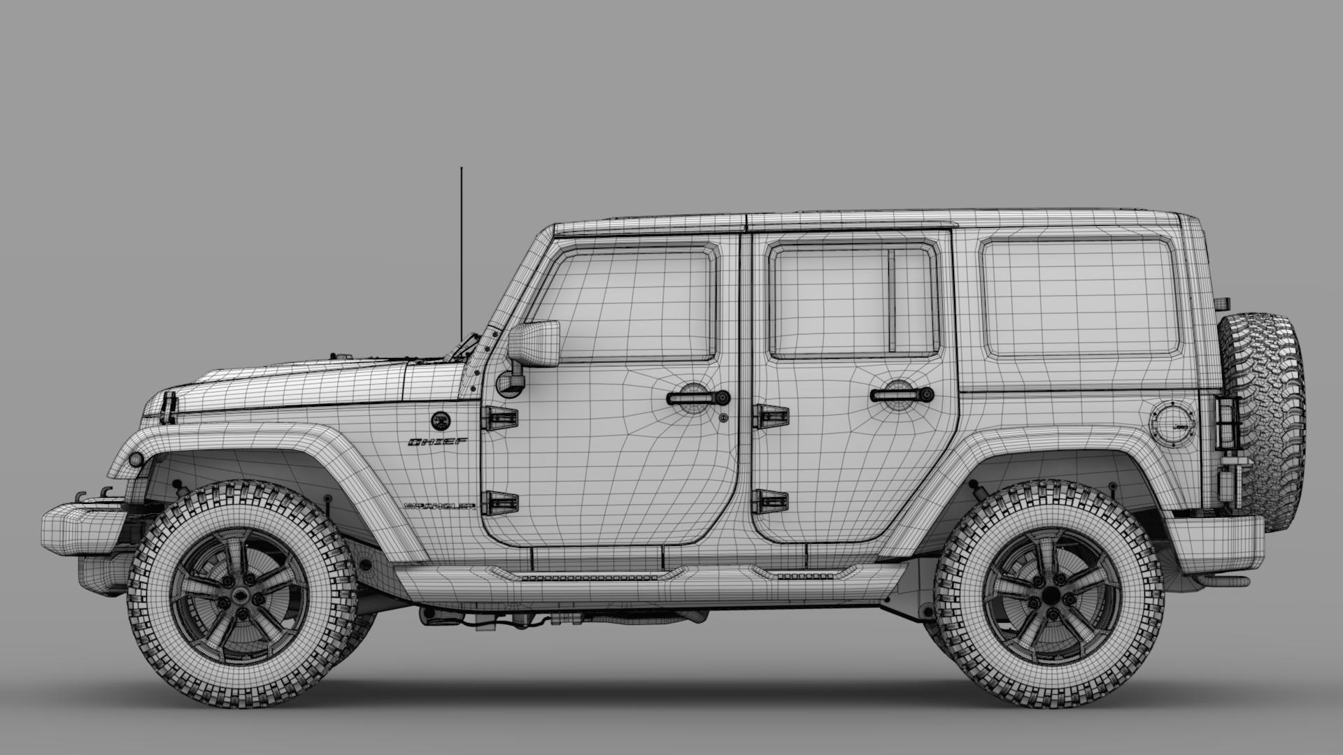 jeep wrangler unlimited chief jk 2017 3d model max fbx c4d lwo ma mb hrc xsi obj 276983