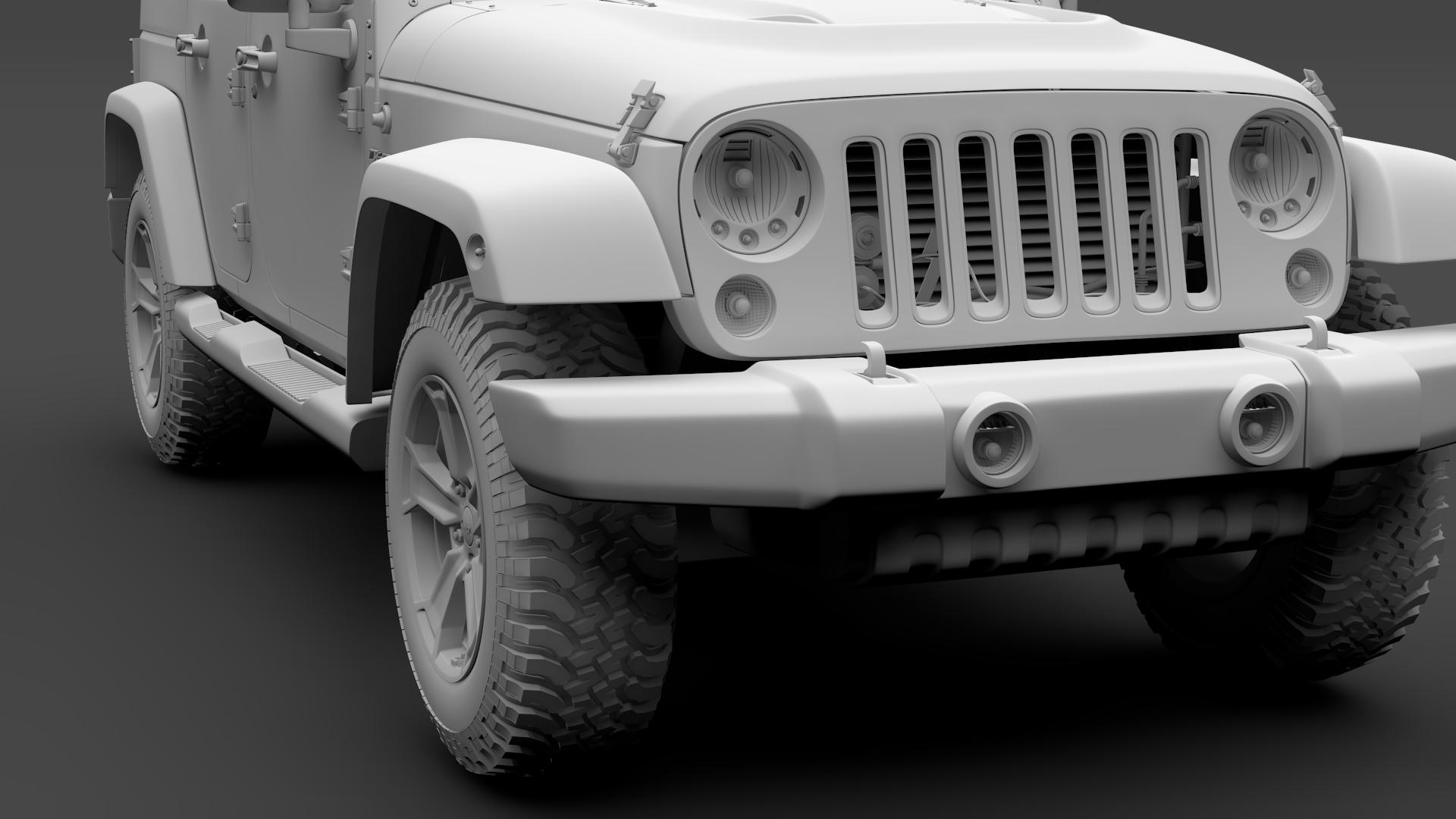 jeep wrangler unlimited chief jk 2017 3d model max fbx c4d lwo ma mb hrc xsi obj 276985