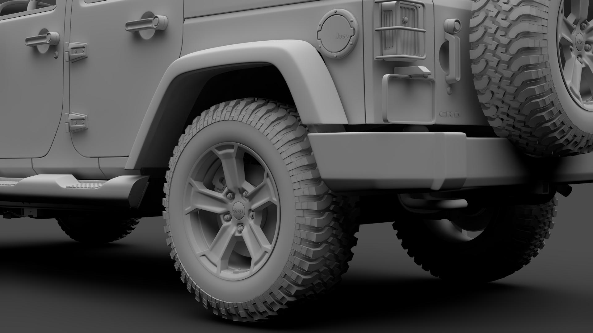 jeep wrangler unlimited chief jk 2017 3d model max fbx c4d lwo ma mb hrc xsi obj 276987