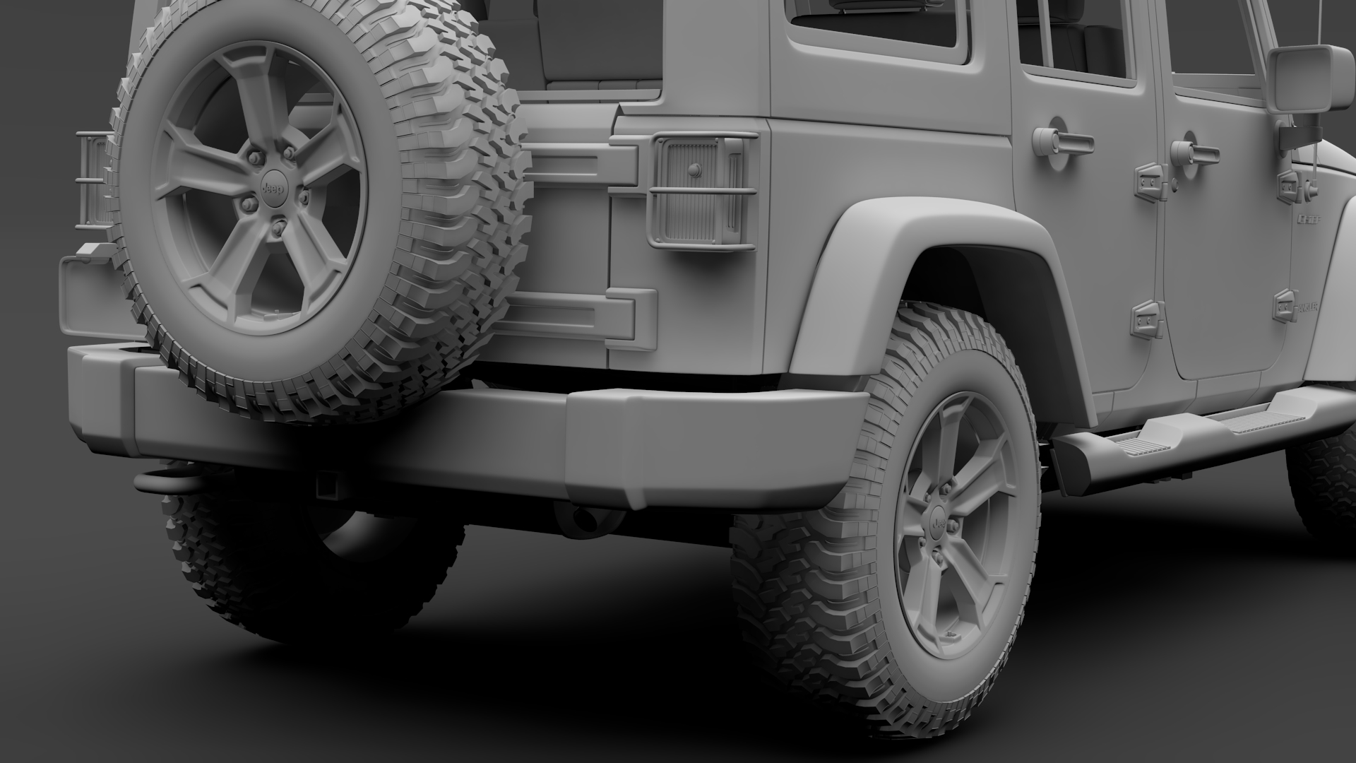 jeep wrangler unlimited chief jk 2017 3d model max fbx c4d lwo ma mb hrc xsi obj 276988