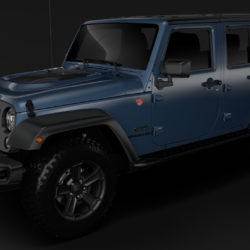 Jeep Wrangler Unlimited Rubicon Recon JK 2017 3d model 0