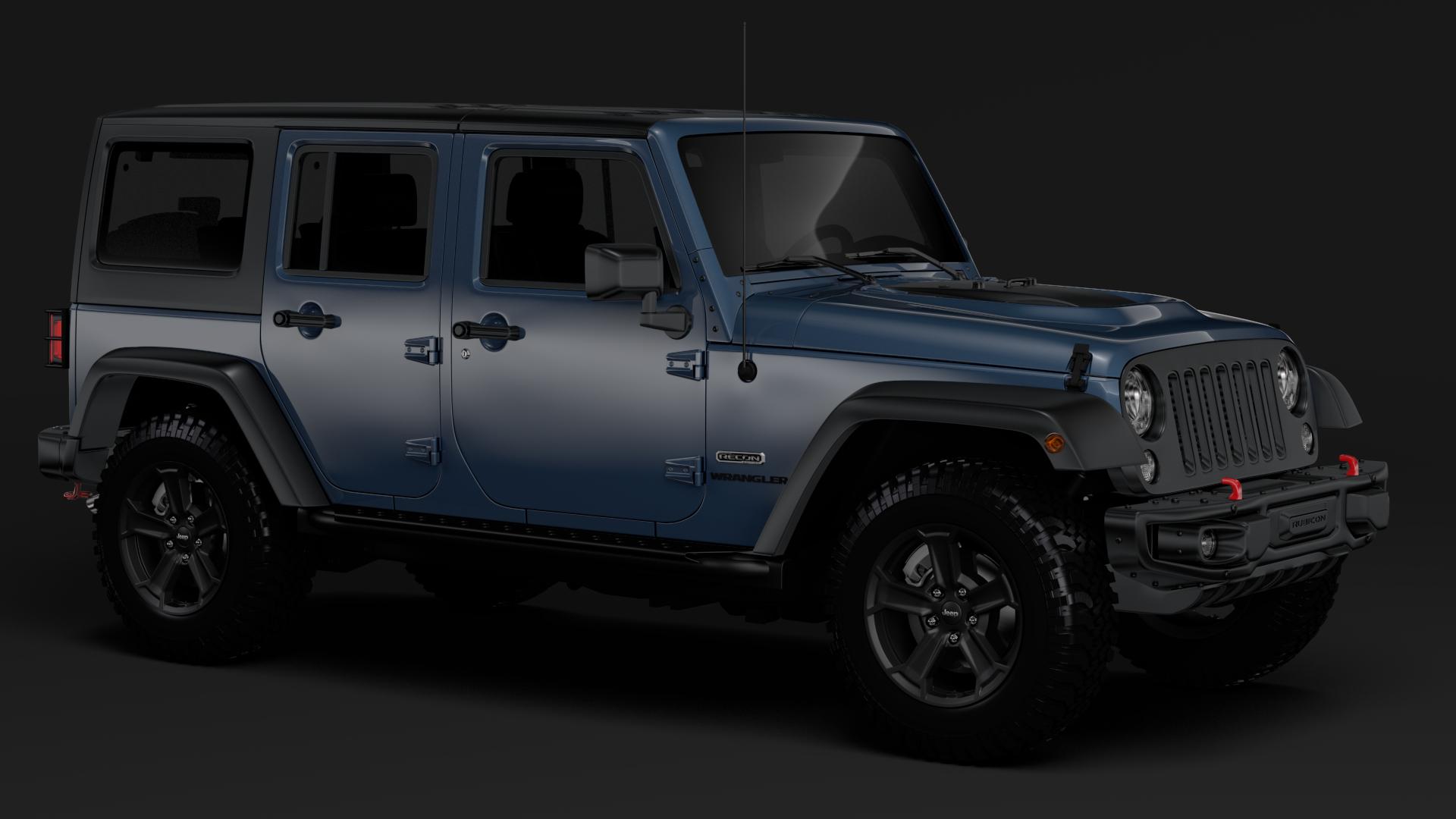 jeep wrangler unlimited rubicon recon jk 2017 3d model max fbx c4d lwo ma mb hrc xsi obj 277000