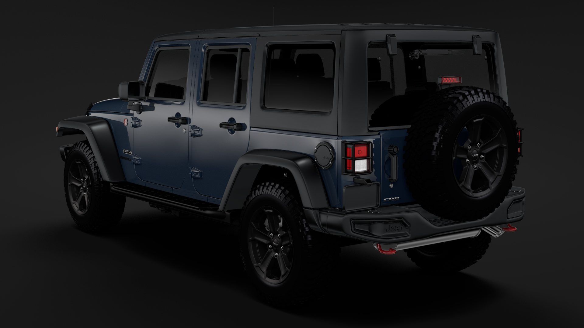 Jeep Wrangler Unlimited Rubicon Recon Jk 2017 3d Model