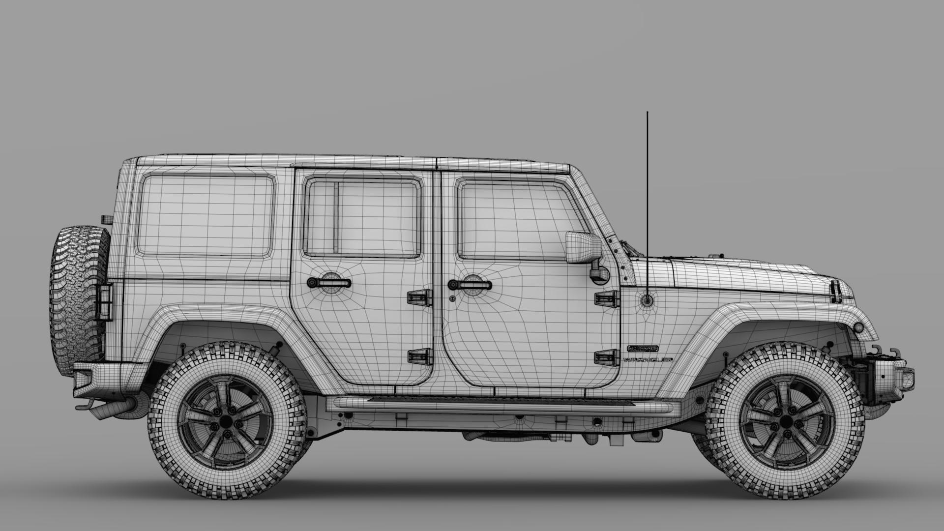 jeep wrangler unlimited rubicon recon jk 2017 3d model max fbx c4d lwo ma mb hrc xsi obj 277011