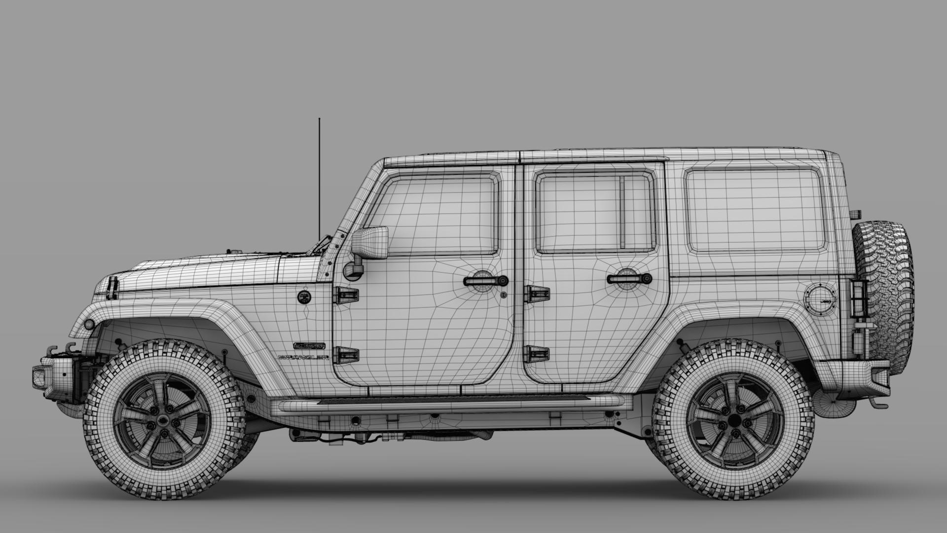 jeep wrangler unlimited rubicon recon jk 2017 3d model max fbx c4d lwo ma mb hrc xsi obj 277013