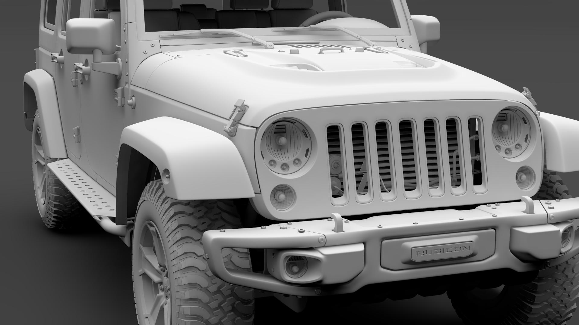 jeep wrangler unlimited rubicon recon jk 2017 3d model max fbx c4d lwo ma mb hrc xsi obj 277015