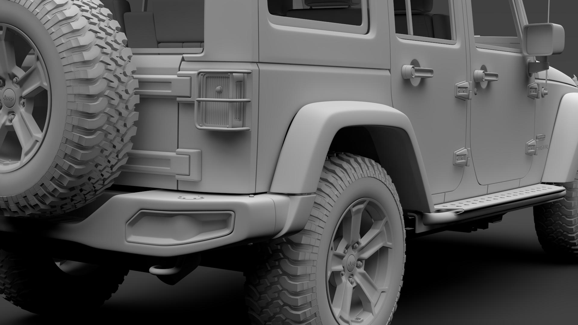 jeep wrangler unlimited rubicon recon jk 2017 3d model max fbx c4d lwo ma mb hrc xsi obj 277017