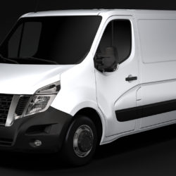 Nissan NV 400 L1H1 Van 2017 3d model 0