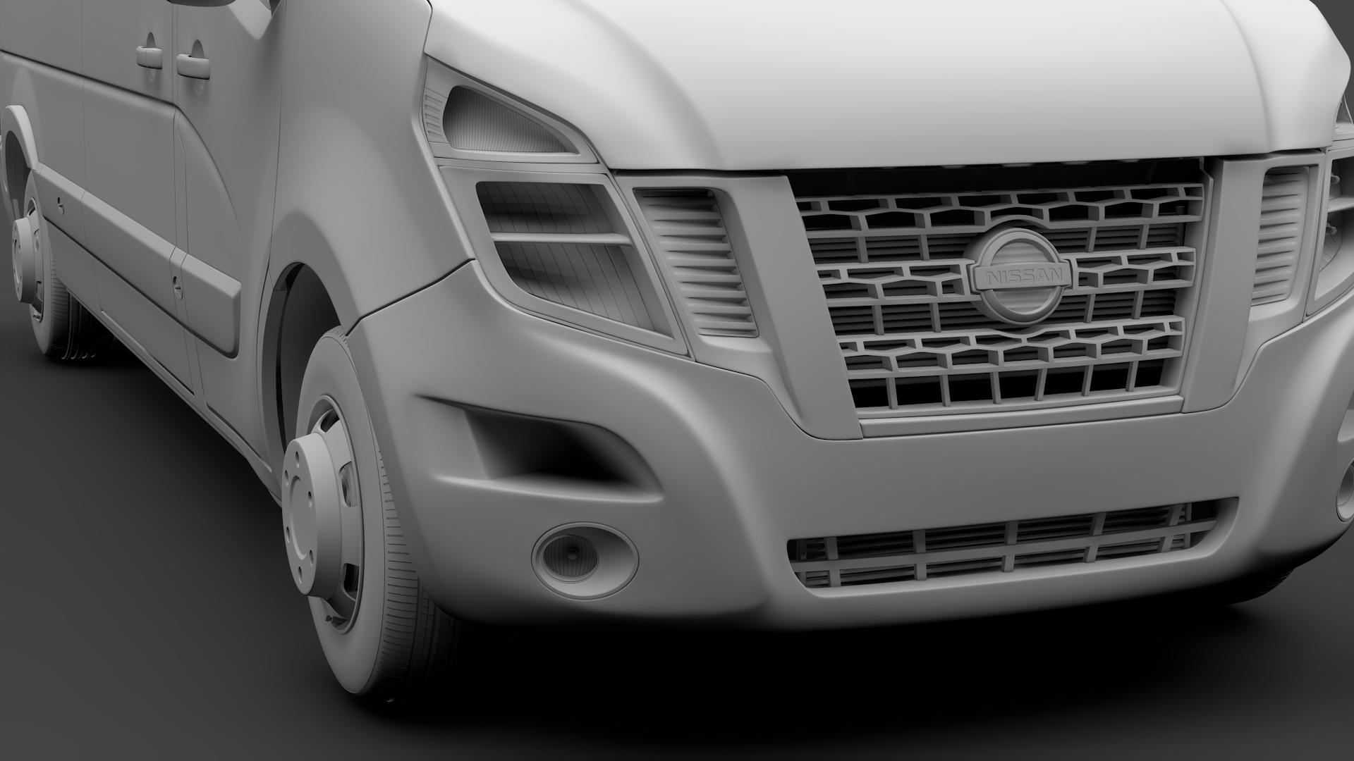 Nissan Nv 400 L3h3 Van 2017 3d Model