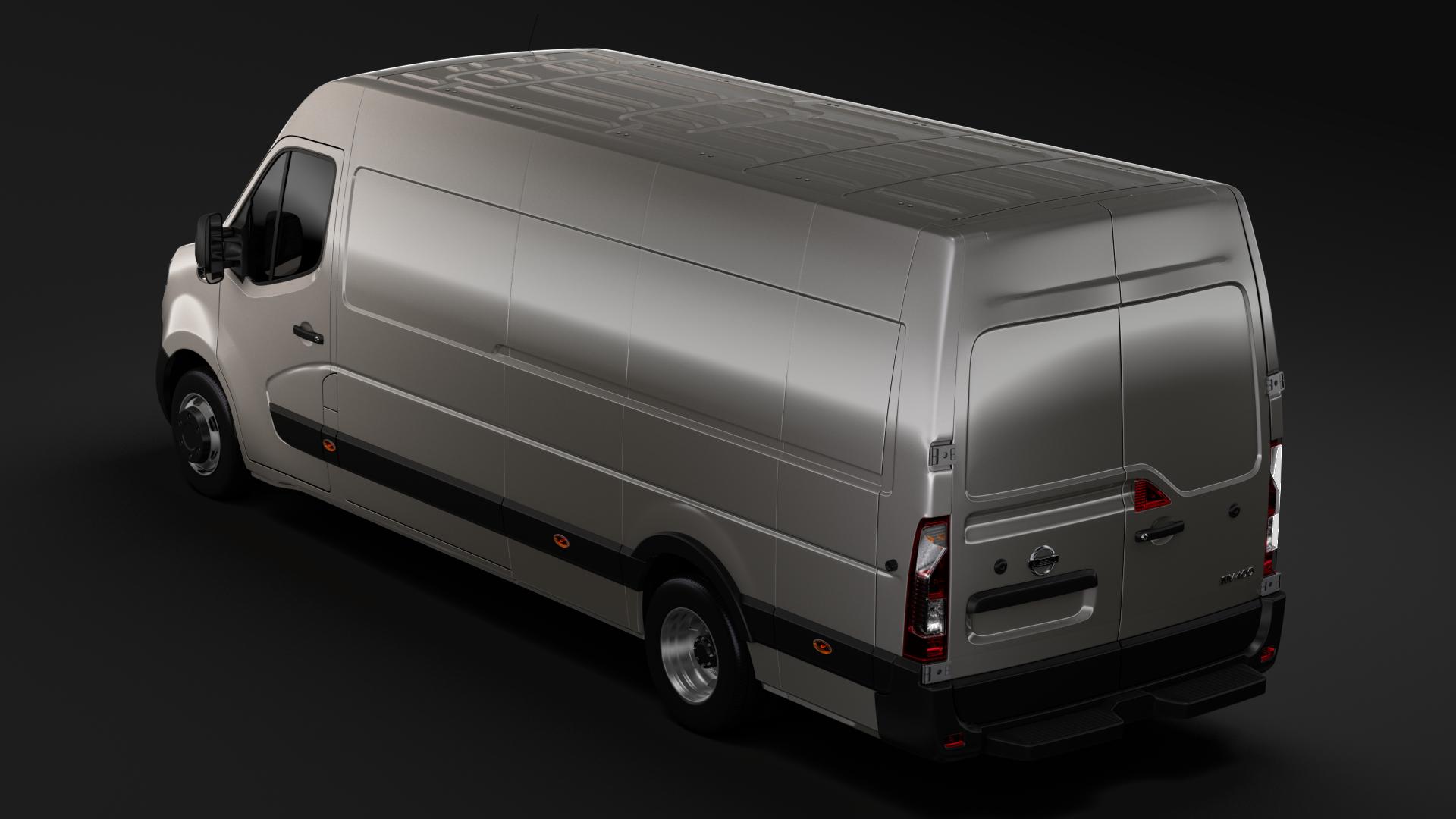 Nissan Nv 400 L4h2 Van 2017 3d Model