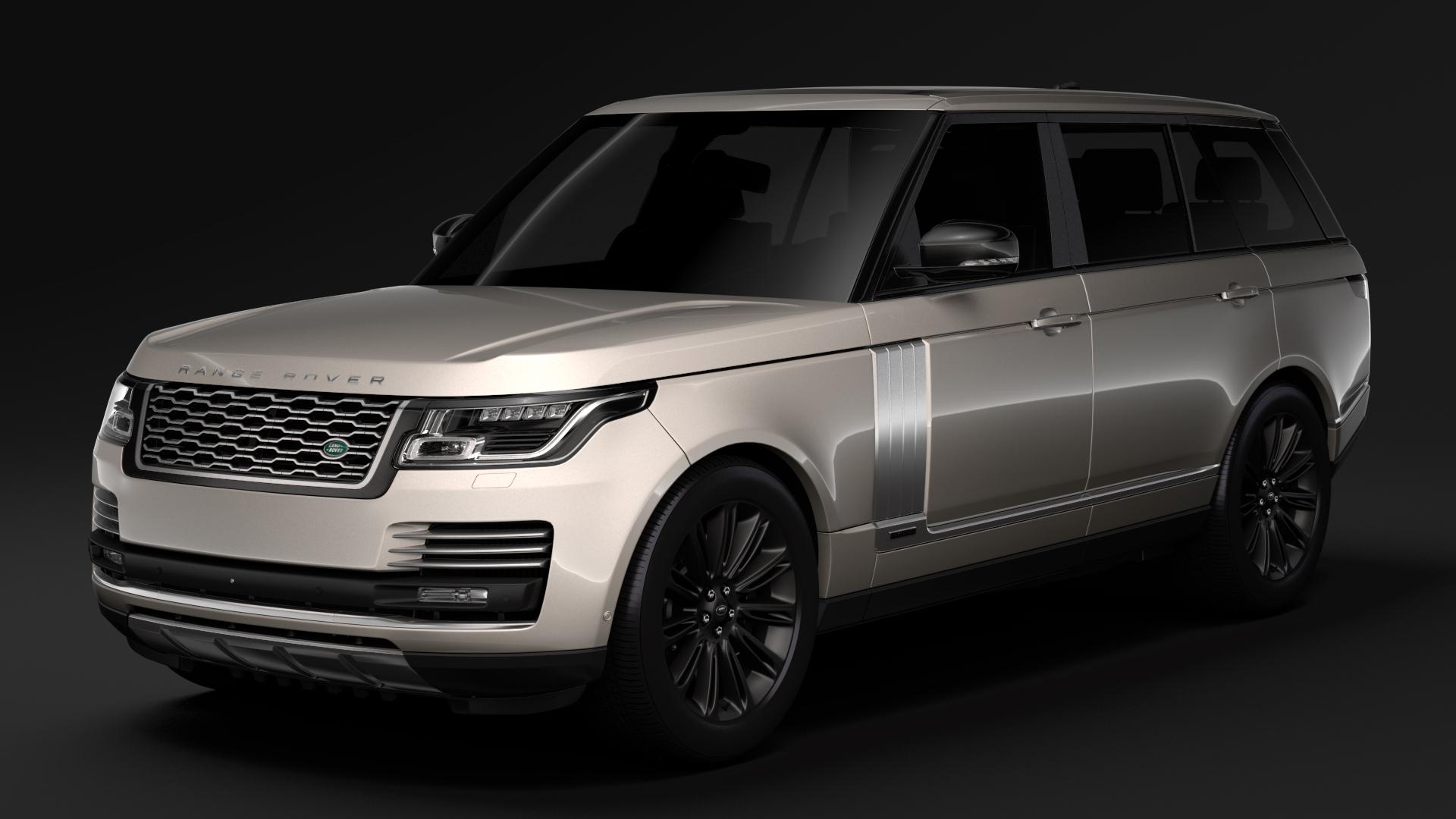 range rover autobiography hybrid lwb l405 2018 3d model max fbx c4d lwo ma mb hrc xsi obj 277294