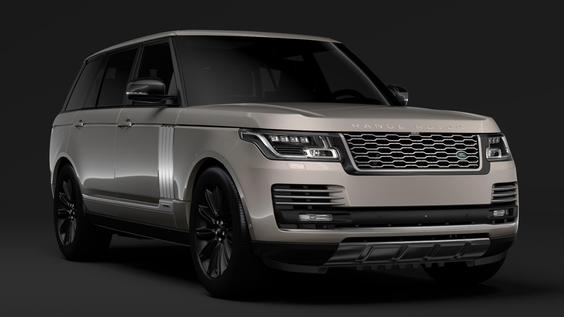 range rover autobiography hybrid lwb l405 2018 3d model max fbx c4d lwo ma mb hrc xsi obj 277295