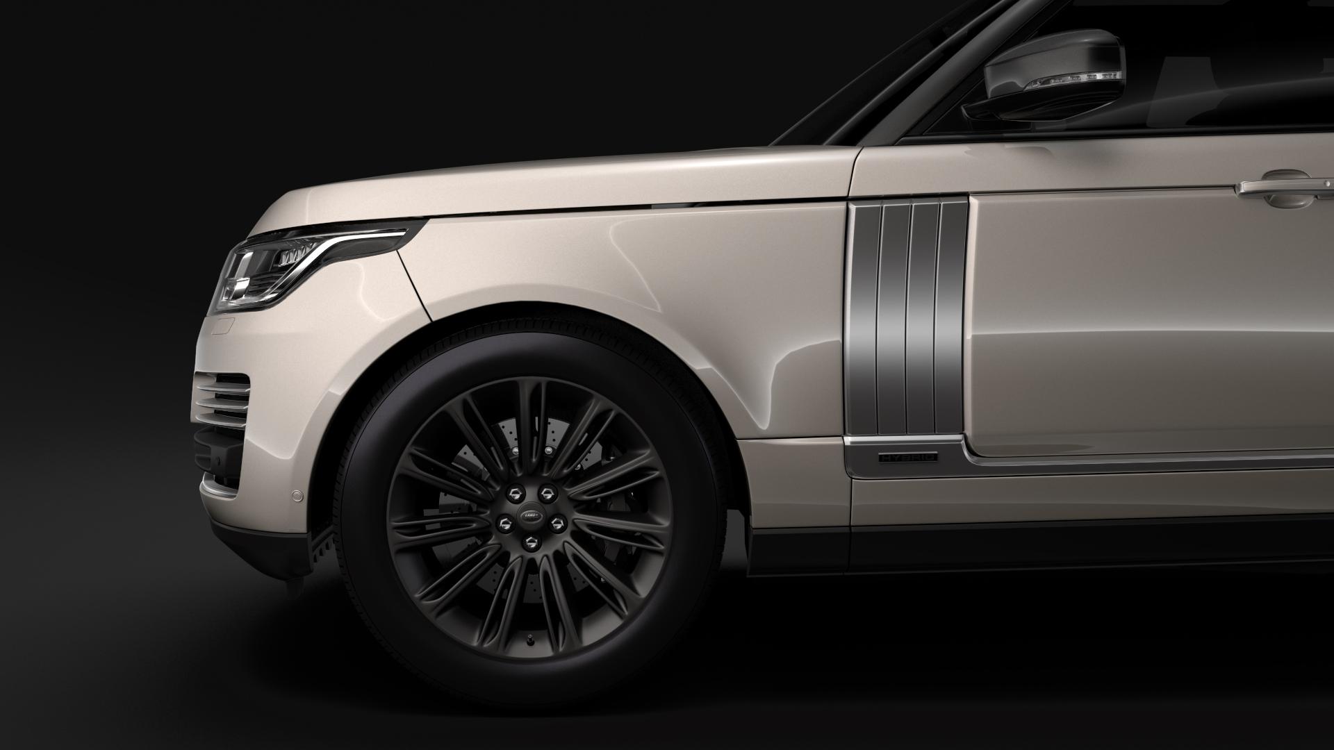 range rover autobiography hybrid lwb l405 2018 3d model max fbx c4d lwo ma mb hrc xsi obj 277302