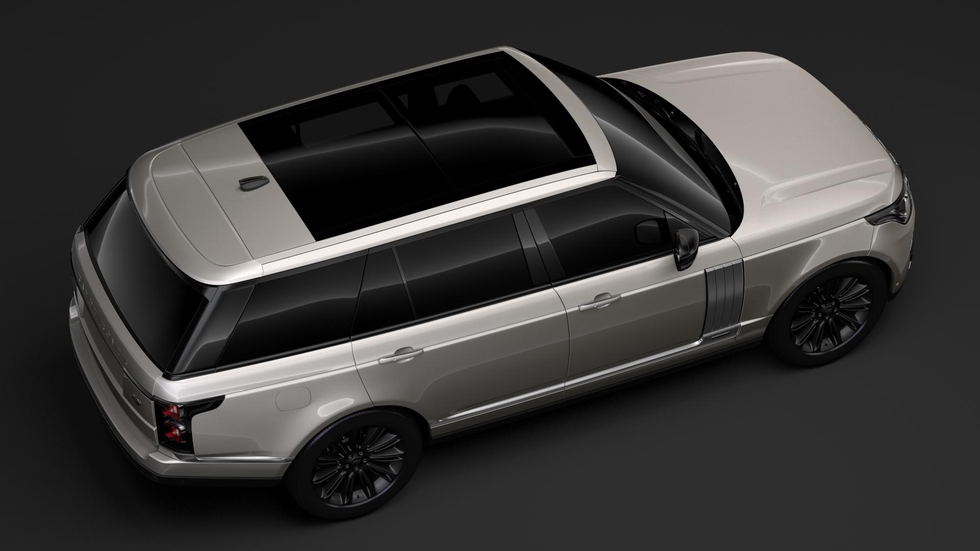 range rover autobiography hybrid lwb l405 2018 3d model flatpyramid. Black Bedroom Furniture Sets. Home Design Ideas