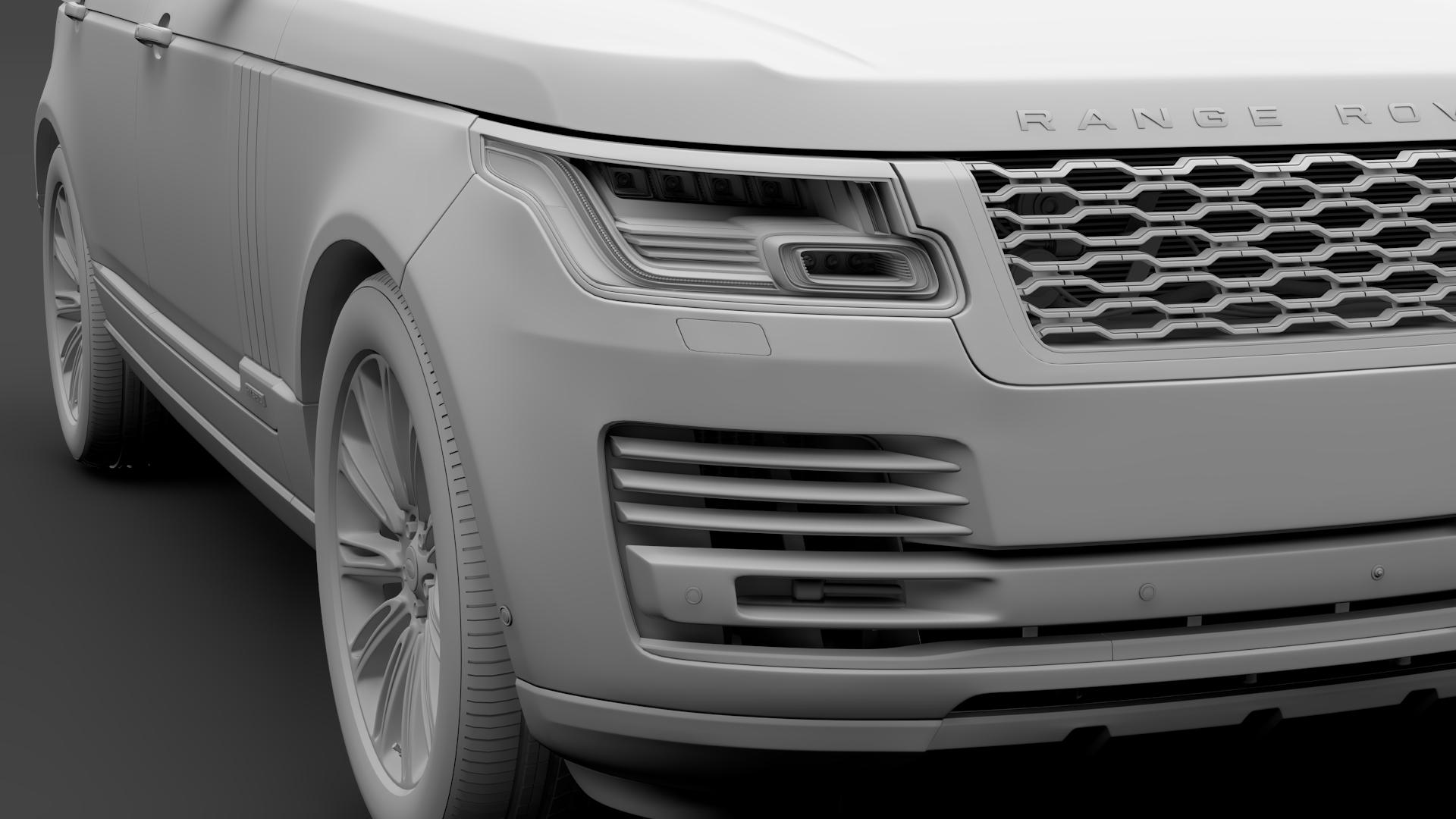 range rover autobiography hybrid lwb l405 2018 3d model max fbx c4d lwo ma mb hrc xsi obj 277306