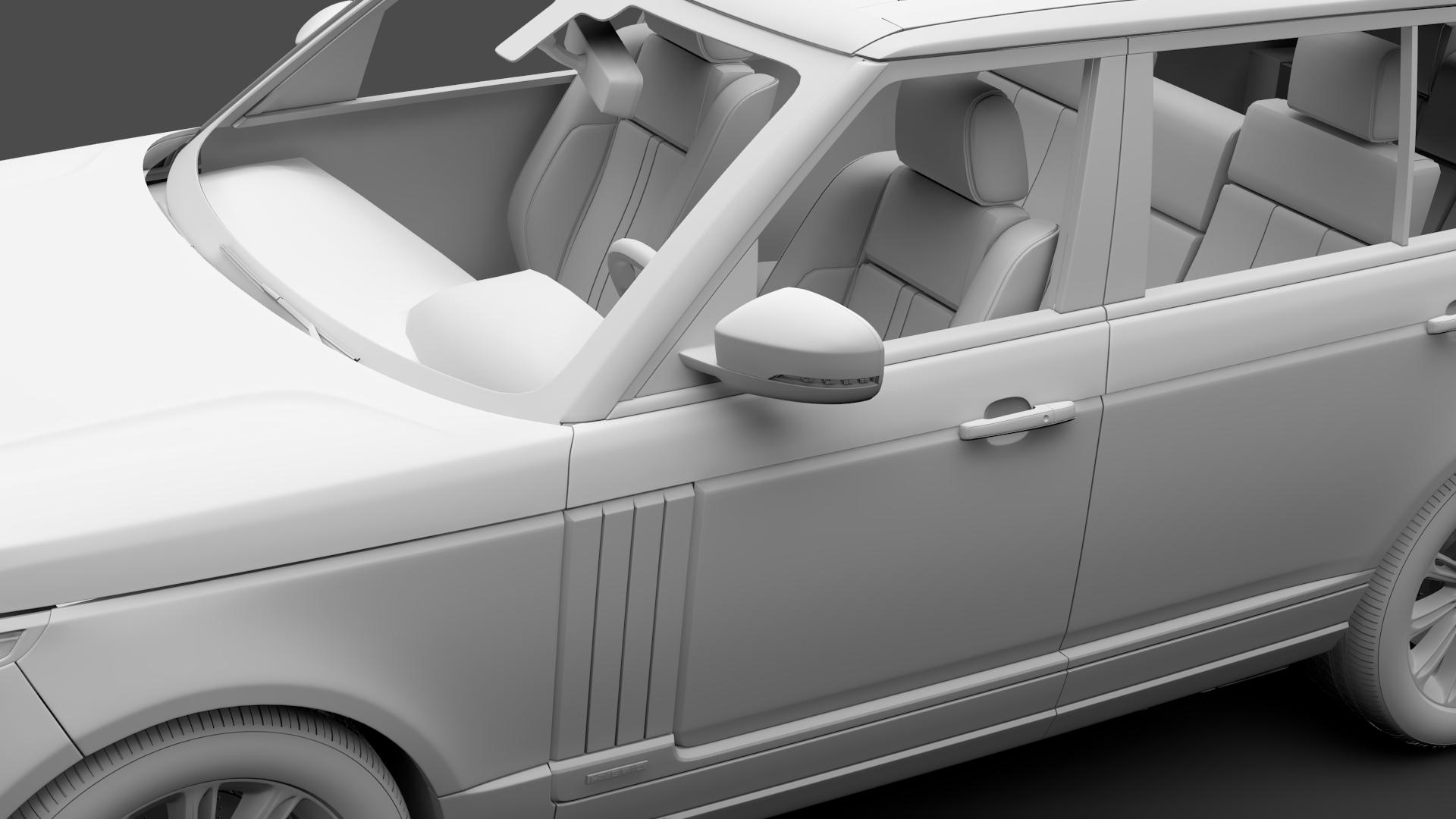 range rover autobiography hybrid lwb l405 2018 3d model max fbx c4d lwo ma mb hrc xsi obj 277310