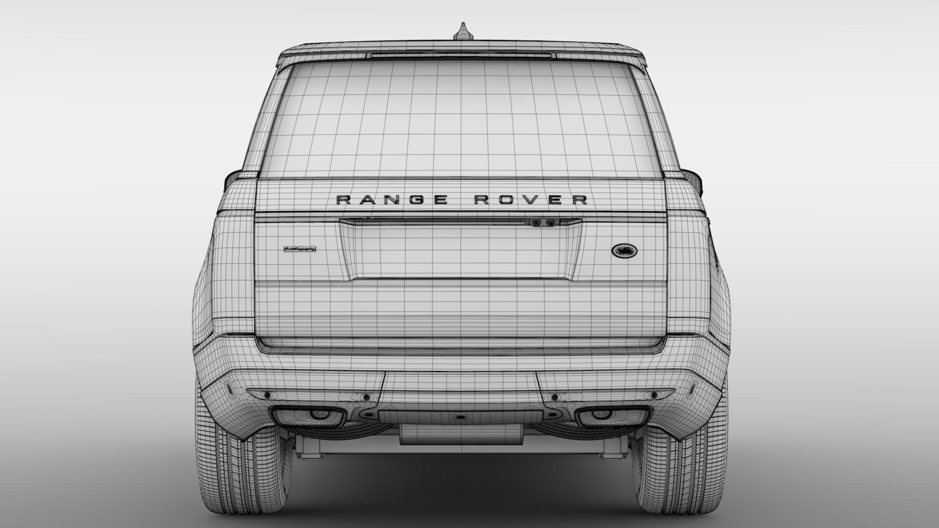 range rover autobiography hybrid lwb l405 2018 3d model max fbx c4d lwo ma mb hrc xsi obj 277312