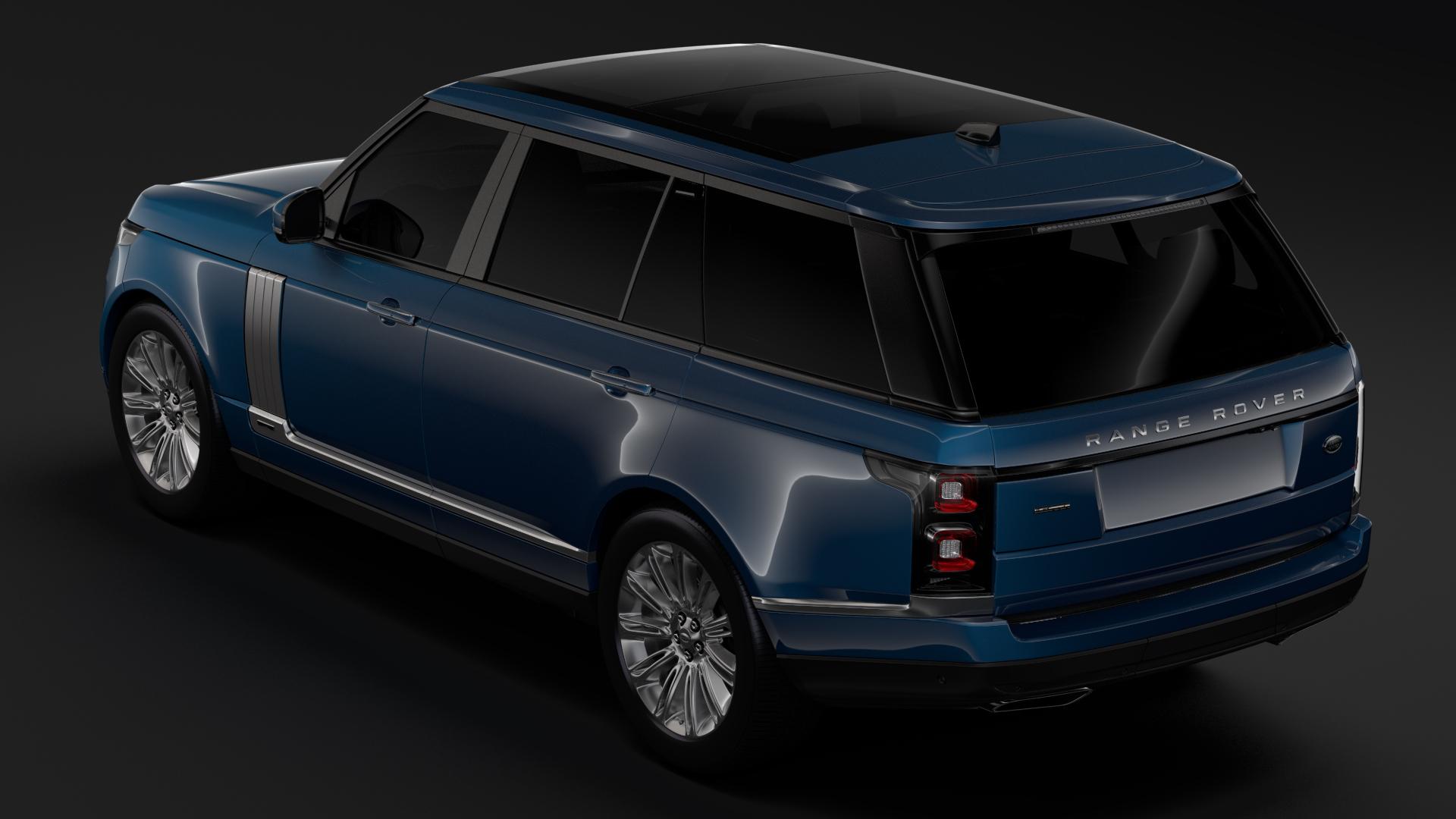 range rover autobiography lwb l405 2018 3d model max fbx c4d lwo ma mb hrc xsi obj 277330