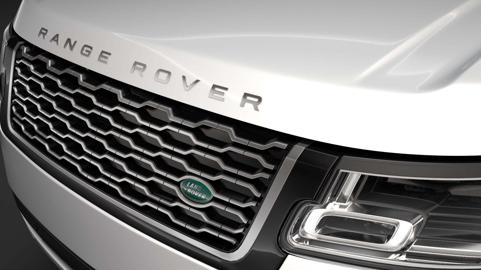 range rover autobiography p400e lwb l405 2018 3d model fbx c4d lwo ma mb hrc xsi obj 277353