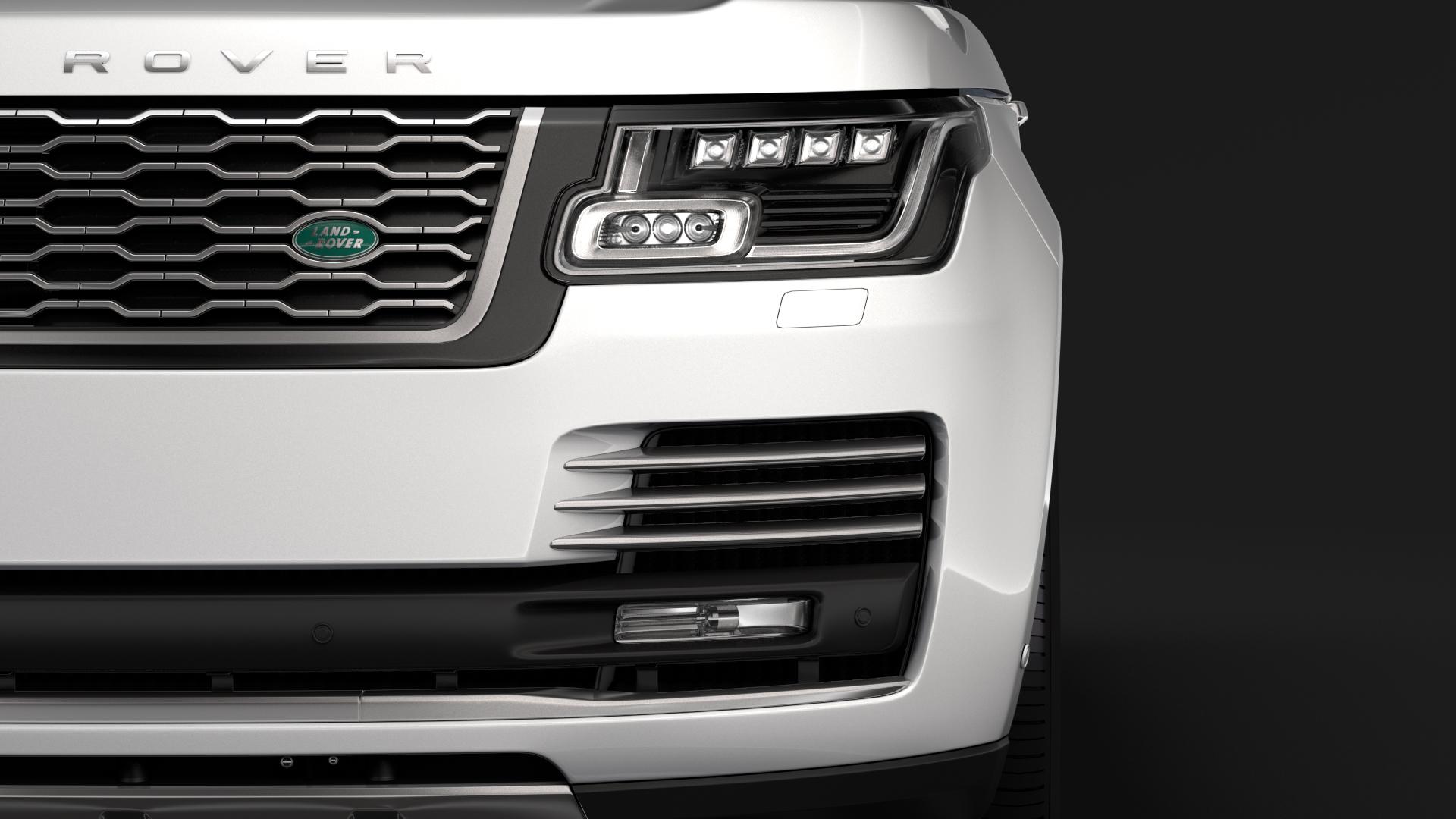 range rover autobiography p400e lwb l405 2018 3d model fbx c4d lwo ma mb hrc xsi obj 277354