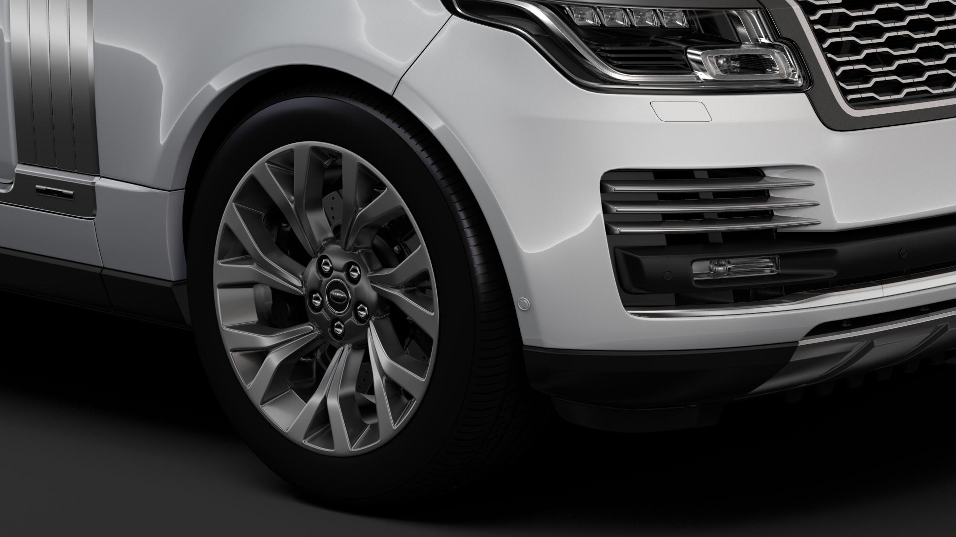 range rover autobiography p400e lwb l405 2018 3d model fbx c4d lwo ma mb hrc xsi obj 277357