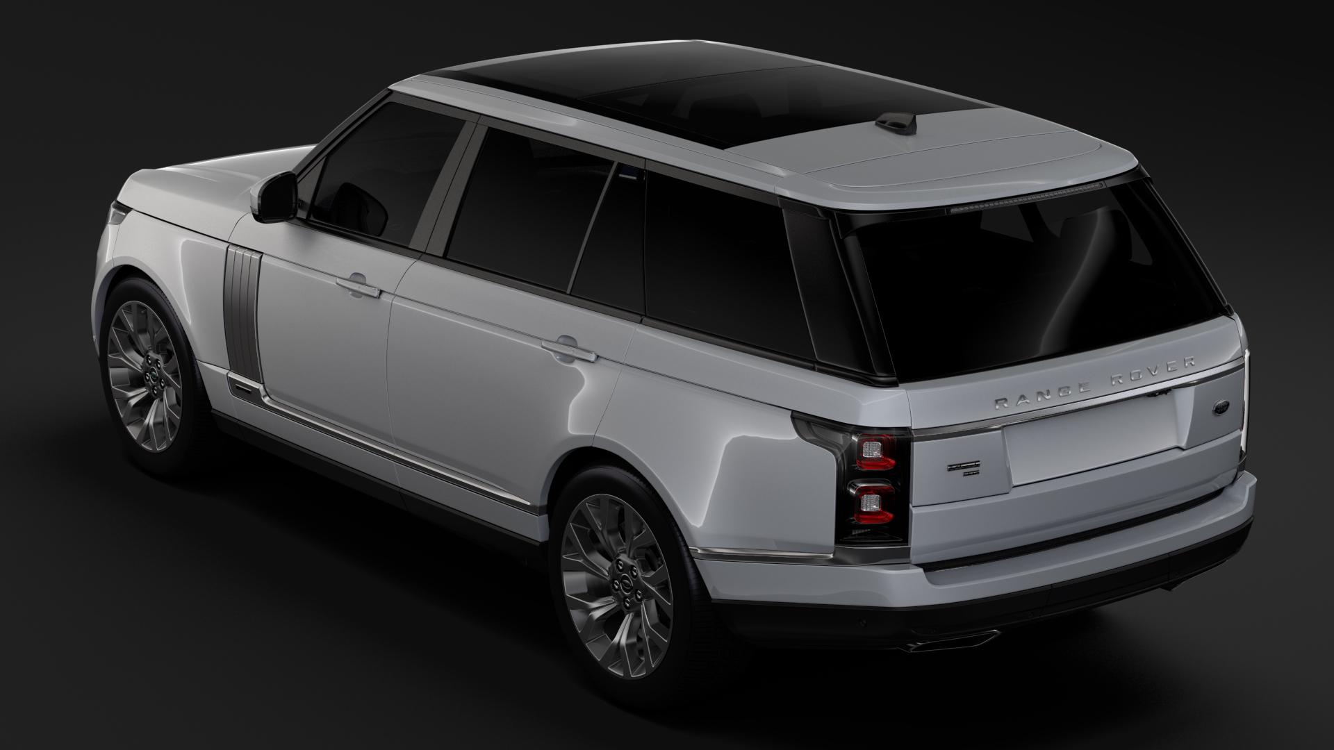 range rover autobiography p400e lwb l405 2018 3d model fbx c4d lwo ma mb hrc xsi obj 277360