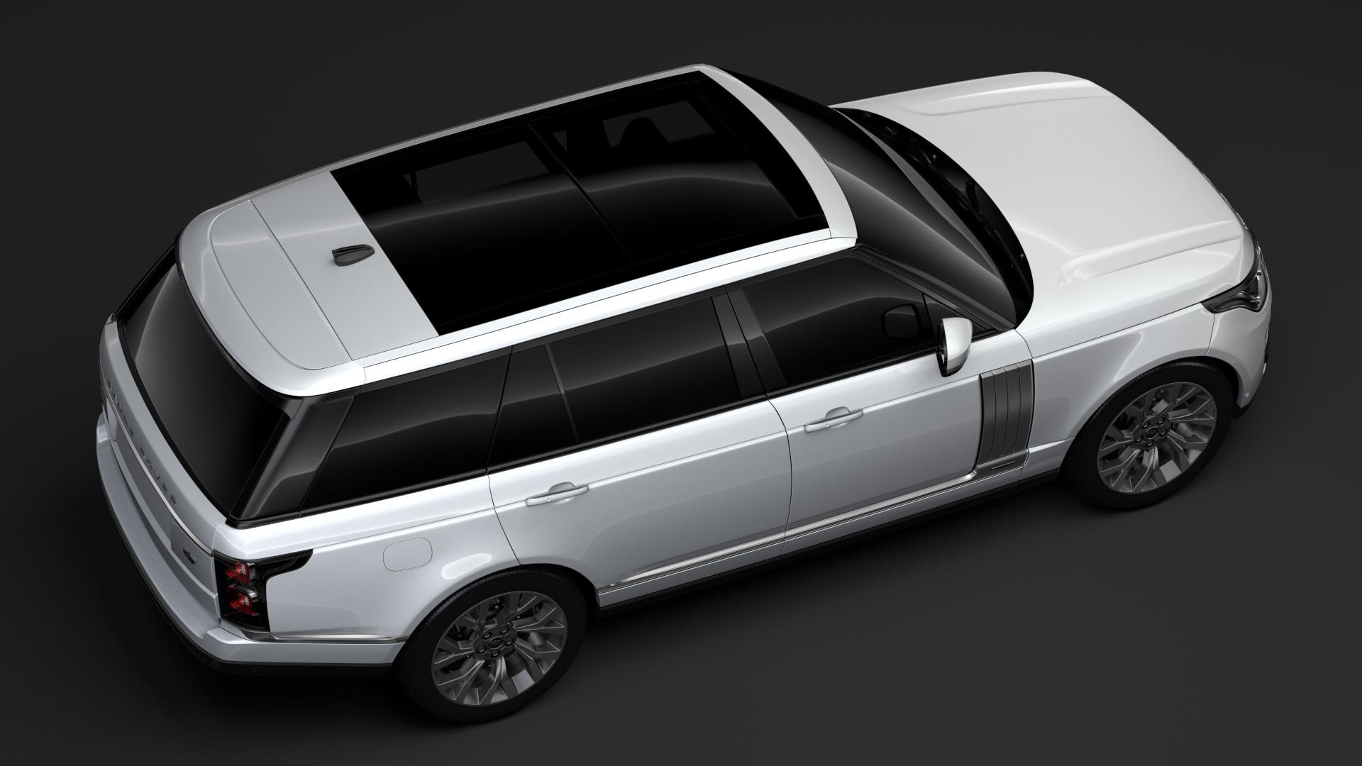range rover autobiography p400e lwb l405 2018 3d model fbx c4d lwo ma mb hrc xsi obj 277364