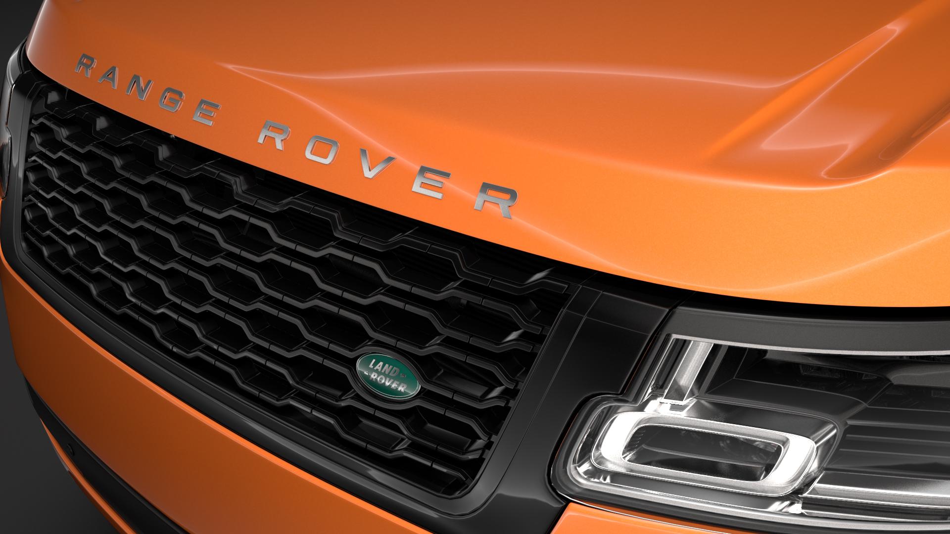 range rover hse td6 lwb l405 2018 3d model max fbx c4d lwo ma mb hrc xsi obj 277388