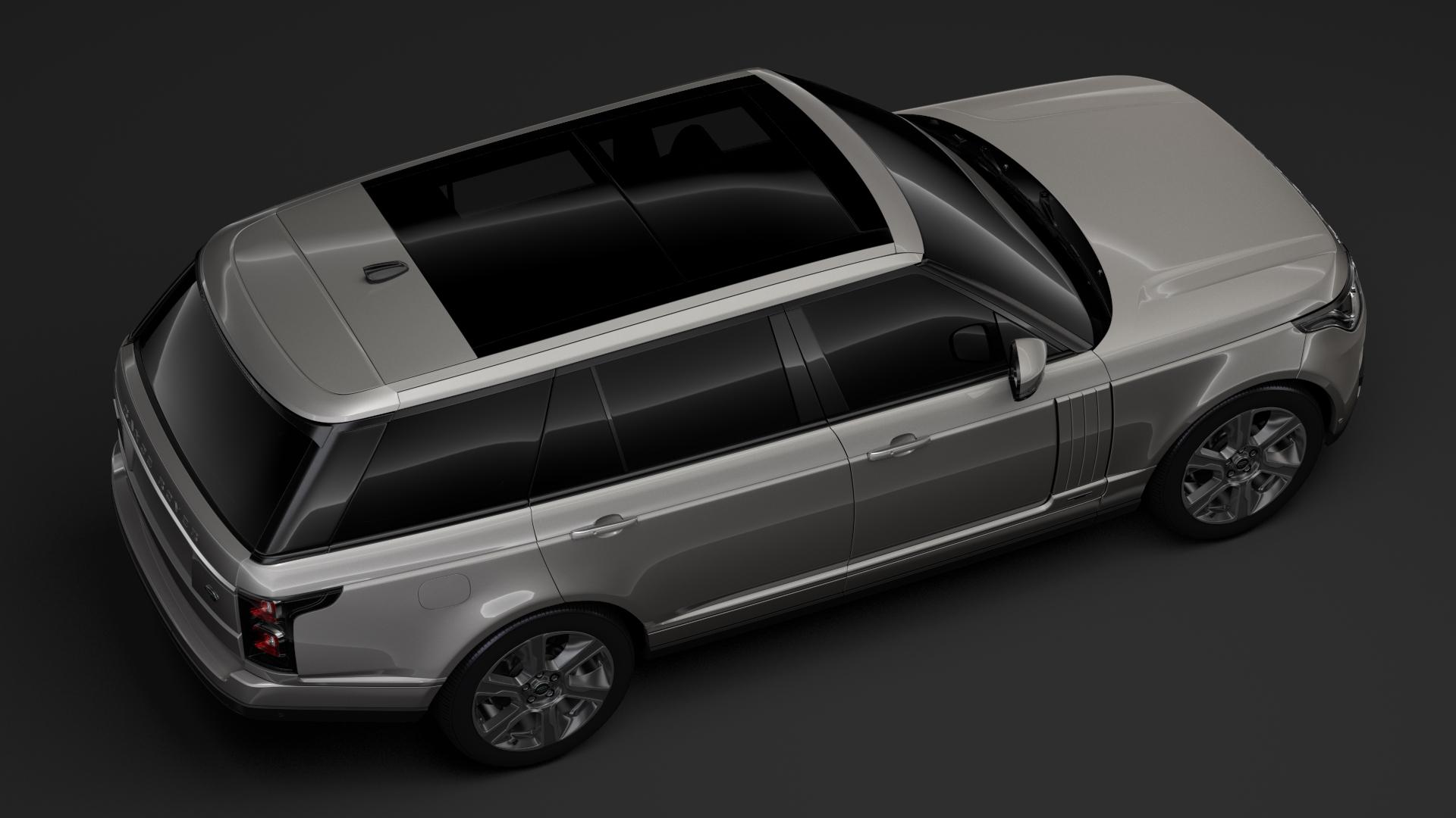 range rover hybrid lwb l405 2018 3d model max fbx c4d lwo ma mb hrc xsi obj 277415