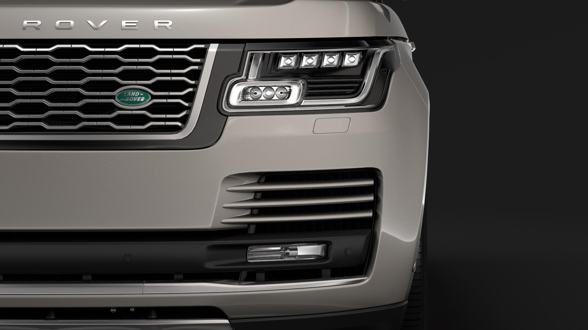 range rover hybrid lwb l405 2018 3d model max fbx c4d lwo ma mb hrc xsi obj 277416