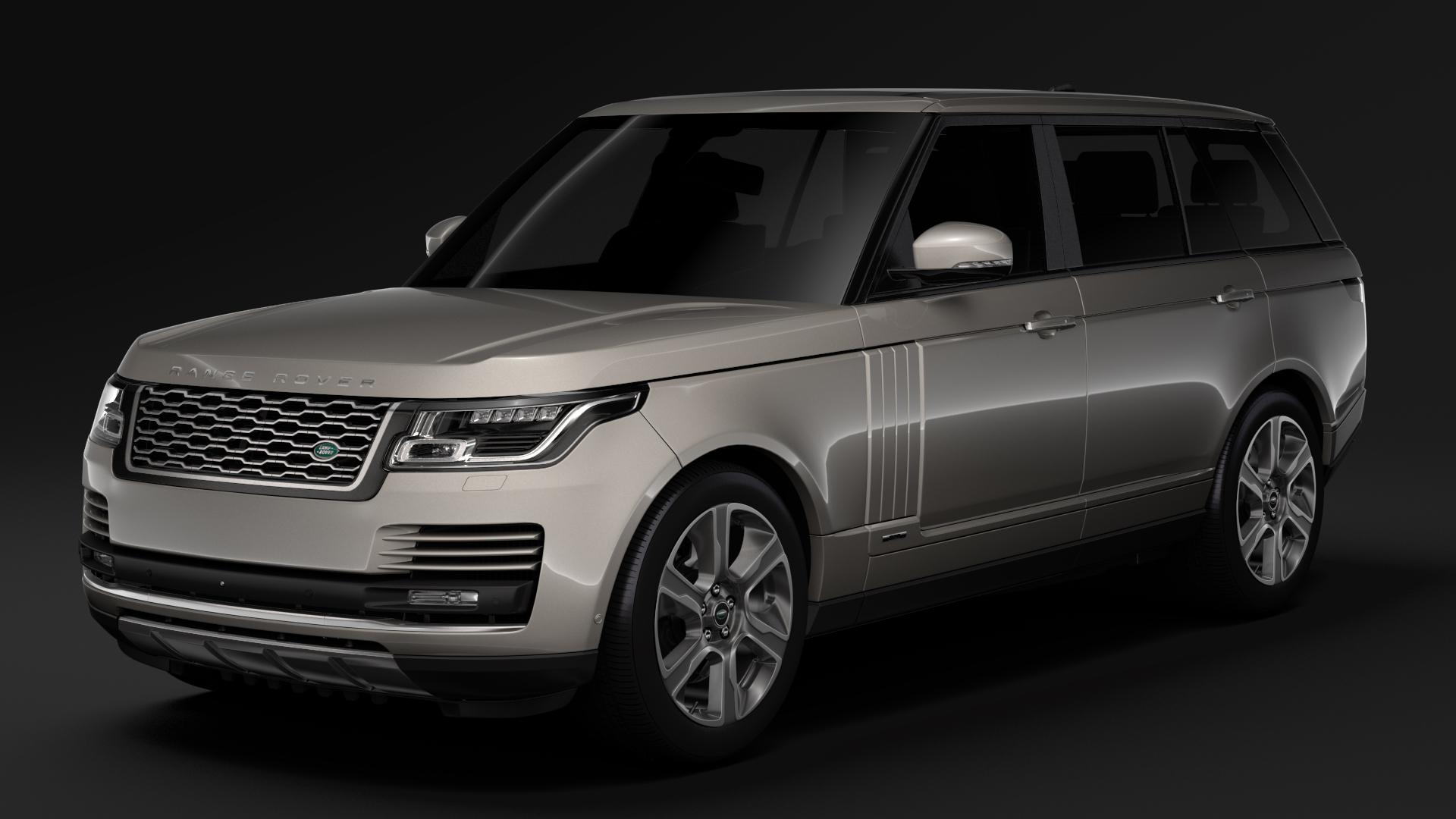 range rover hybrid lwb l405 2018 3d model max fbx c4d lwo ma mb hrc xsi obj 277417