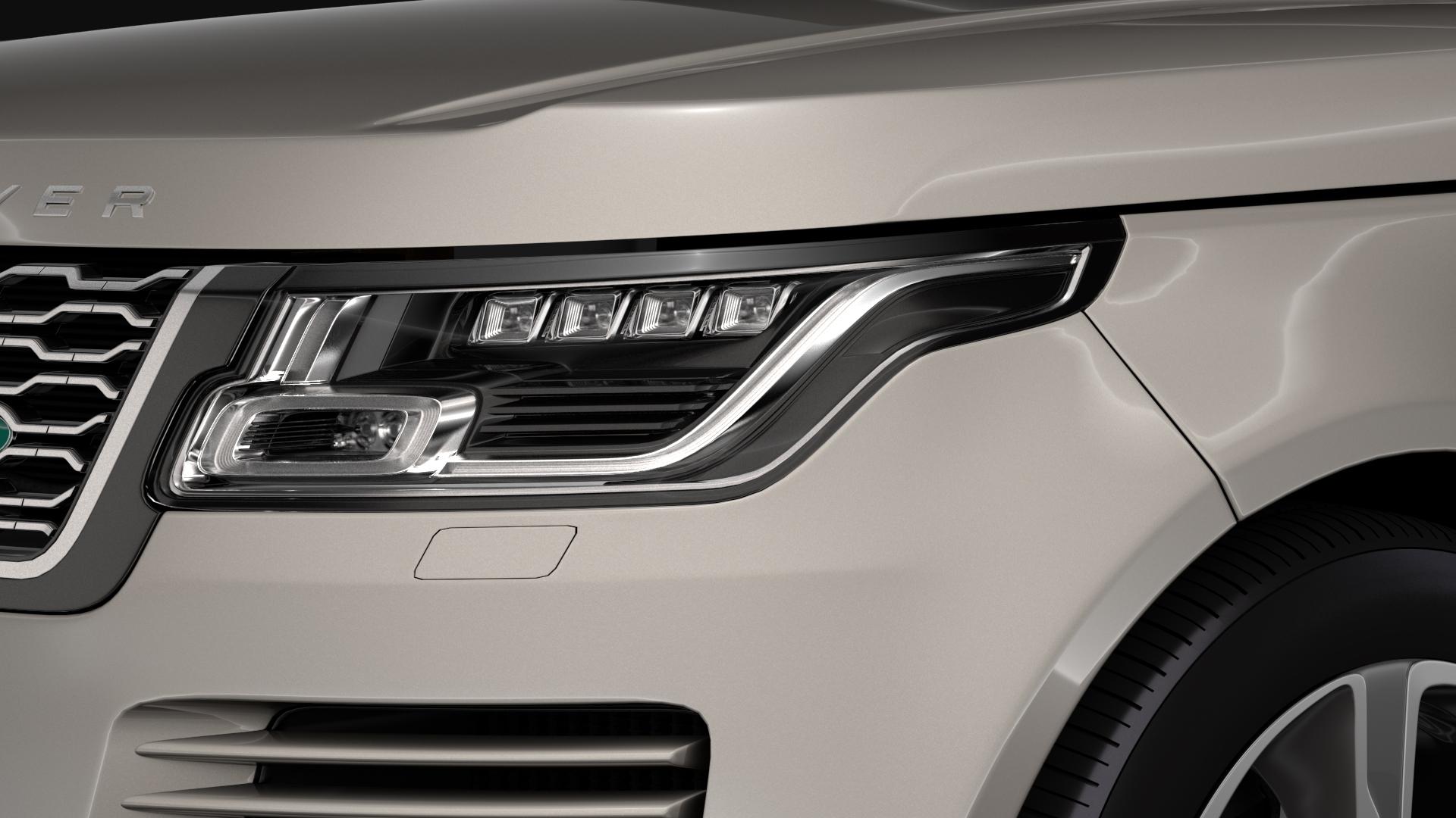 range rover hybrid lwb l405 2018 3d model max fbx c4d lwo ma mb hrc xsi obj 277420