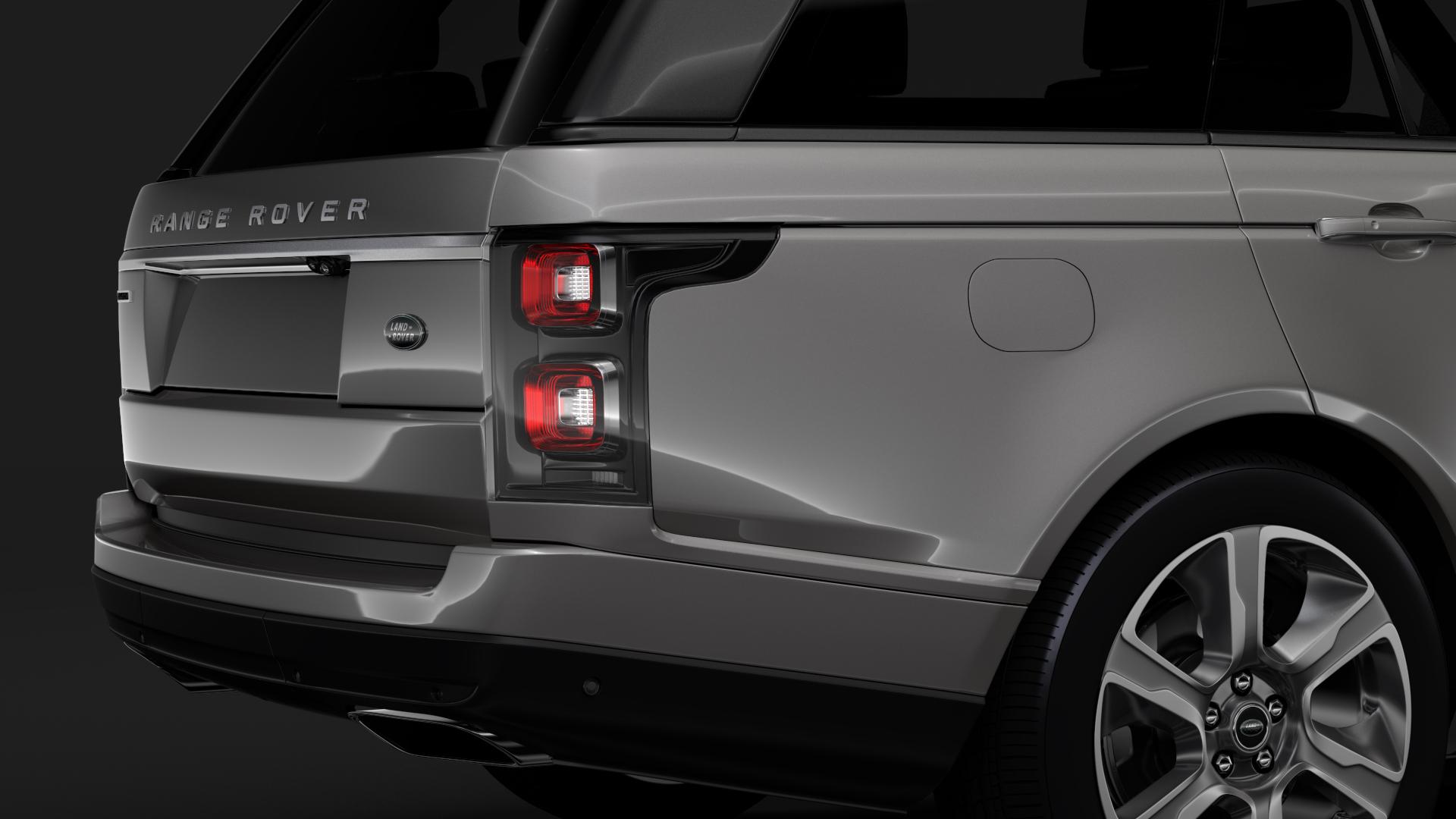 range rover hybrid lwb l405 2018 3d model max fbx c4d lwo ma mb hrc xsi obj 277421
