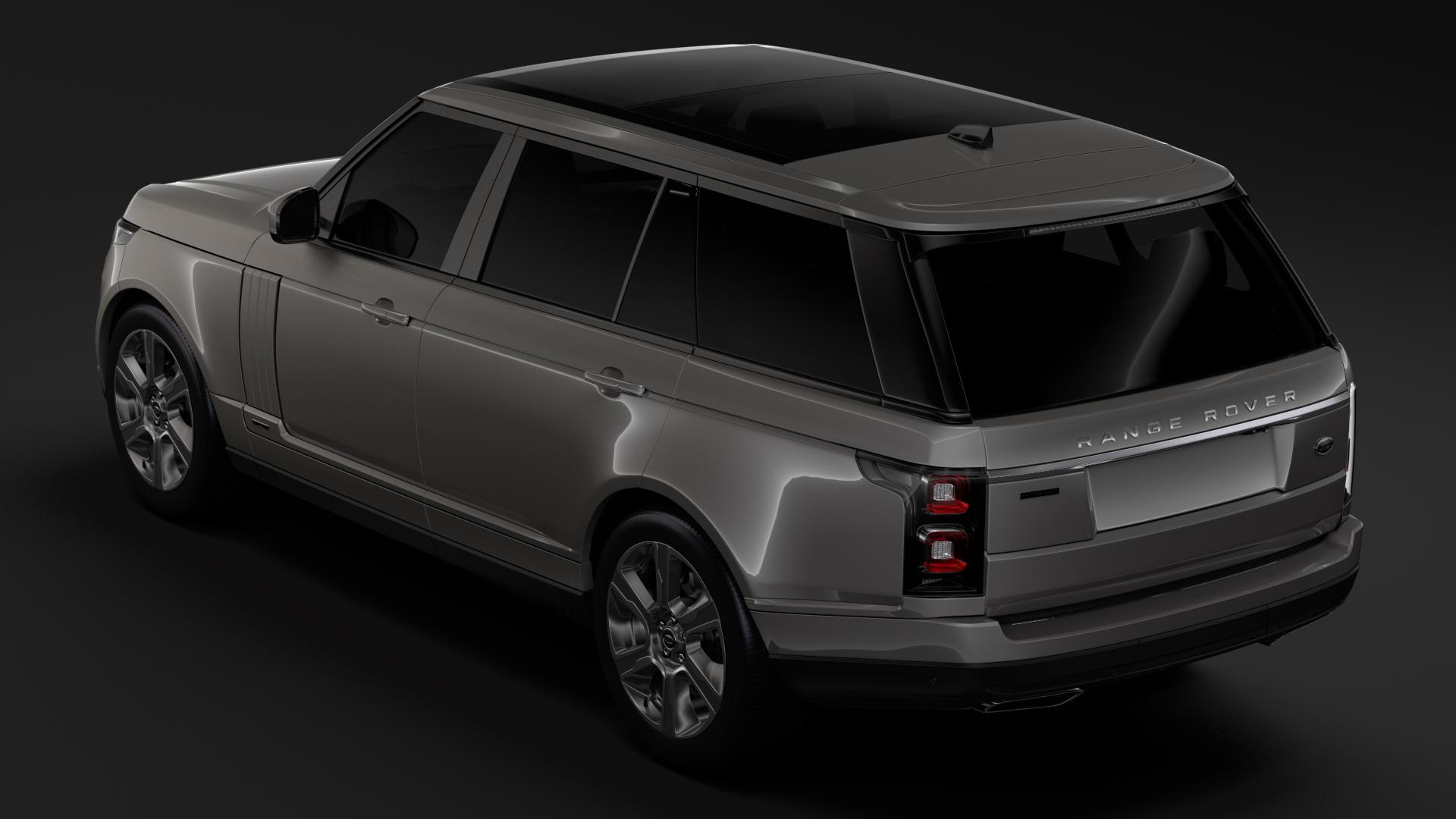 range rover hybrid lwb l405 2018 3d model max fbx c4d lwo ma mb hrc xsi obj 277422