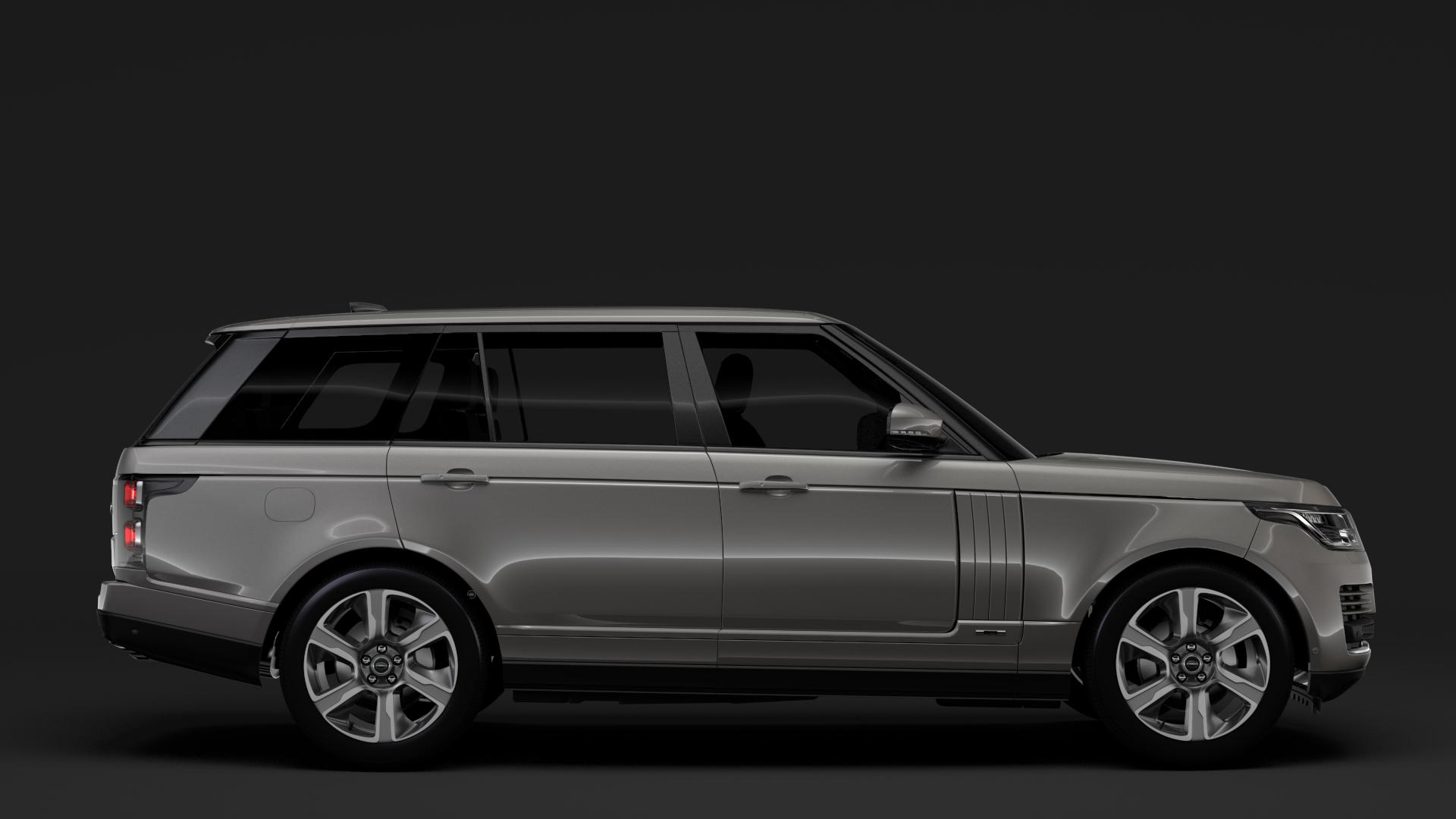 range rover hybrid lwb l405 2018 3d model max fbx c4d lwo ma mb hrc xsi obj 277423