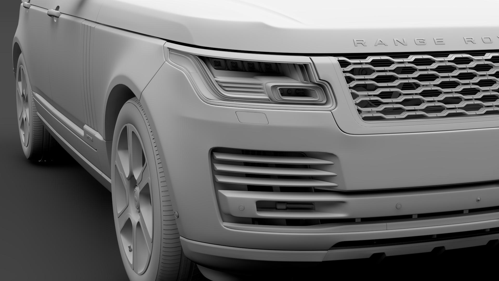 range rover hybrid lwb l405 2018 3d model max fbx c4d lwo ma mb hrc xsi obj 277427