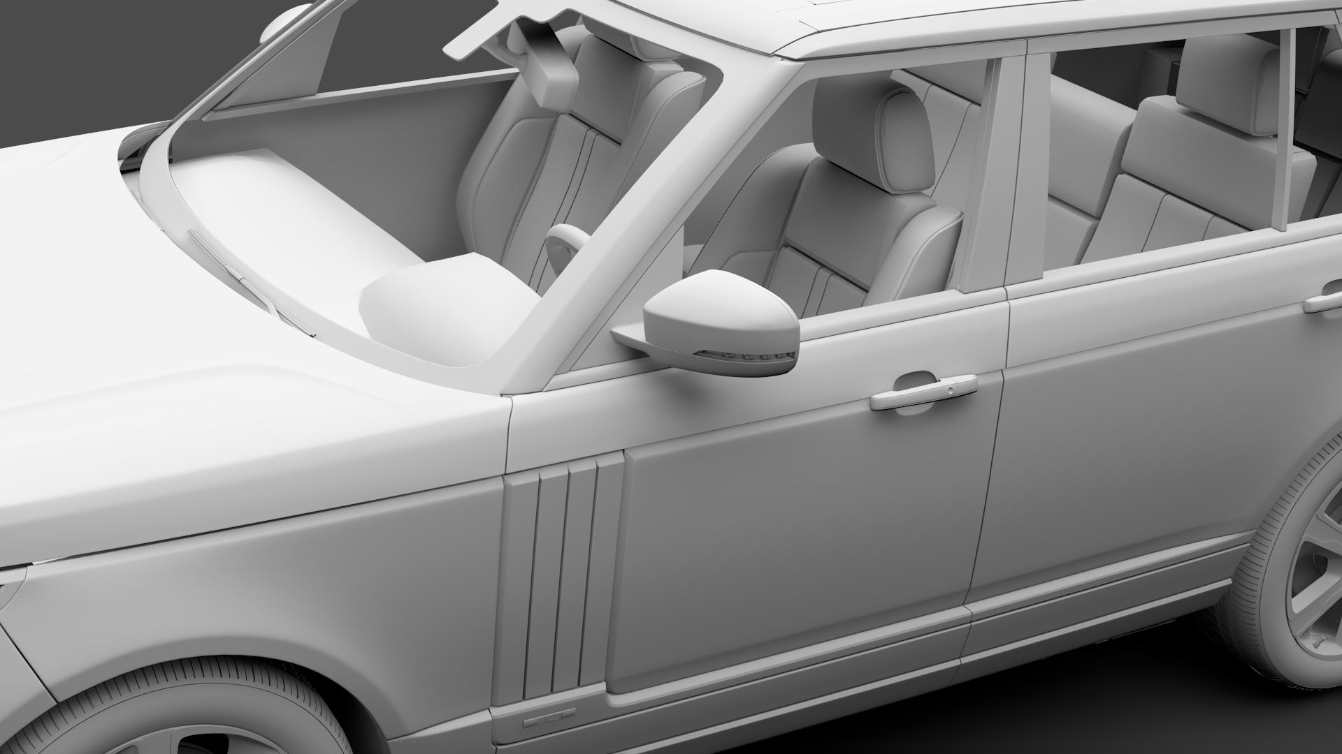 range rover hybrid lwb l405 2018 3d model max fbx c4d lwo ma mb hrc xsi obj 277428