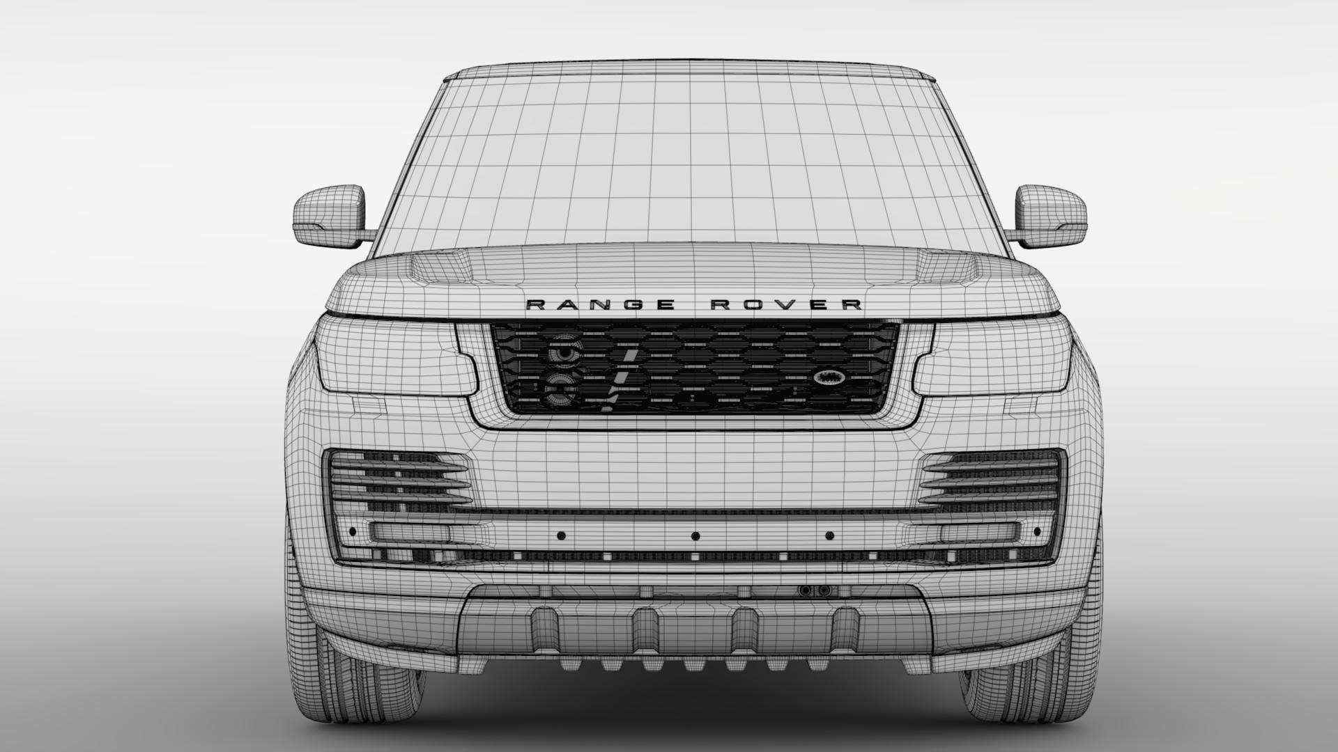 range rover hybrid lwb l405 2018 3d model max fbx c4d lwo ma mb hrc xsi obj 277431