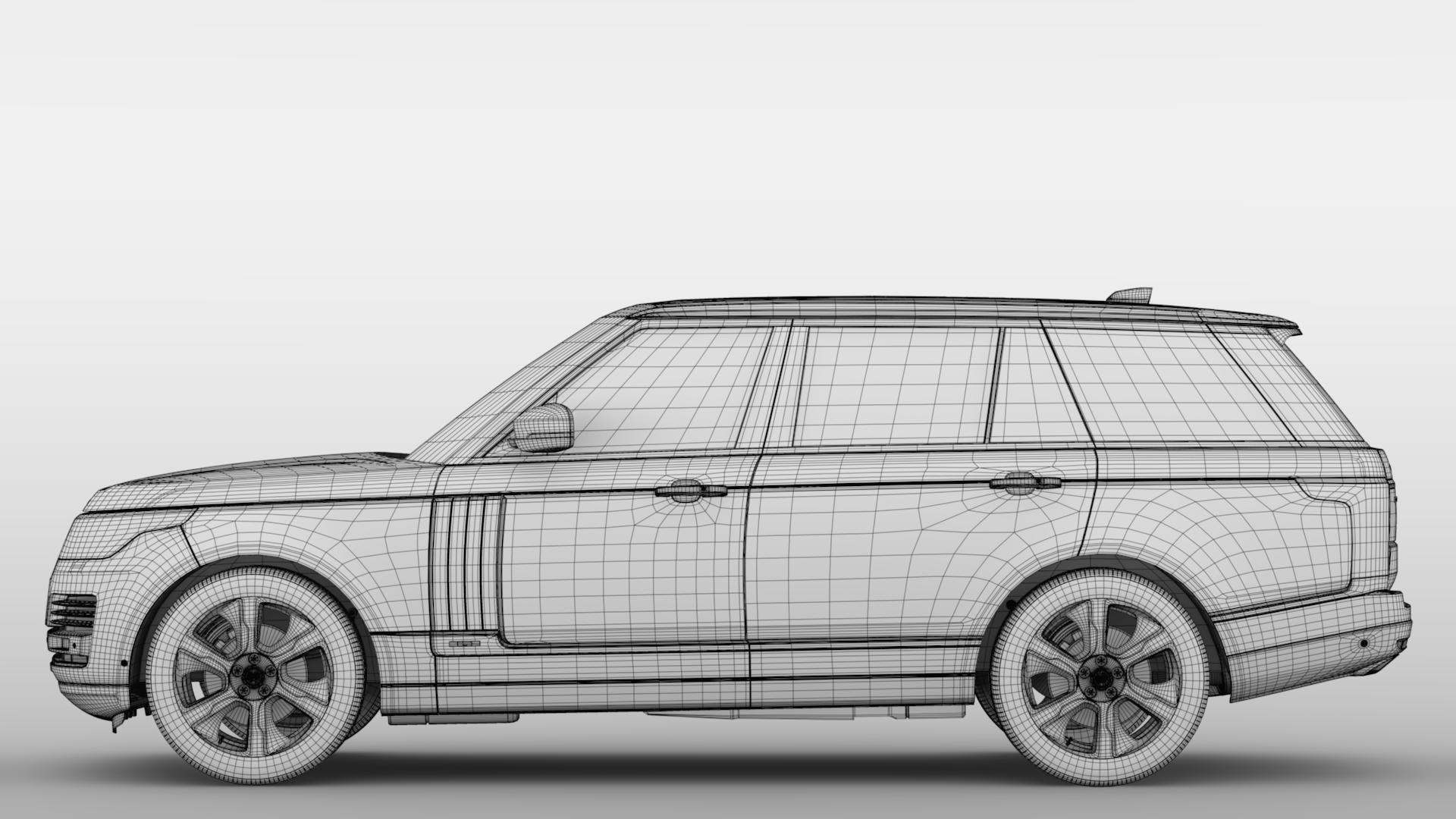 range rover hybrid lwb l405 2018 3d model max fbx c4d lwo ma mb hrc xsi obj 277433