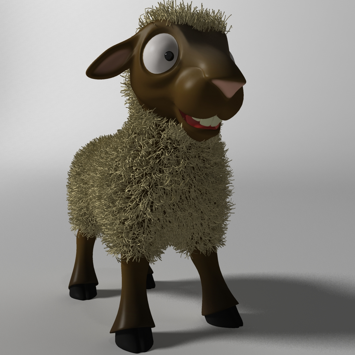 Cartoon Sheep Rigged 3d model 3ds max fbx  obj 277460