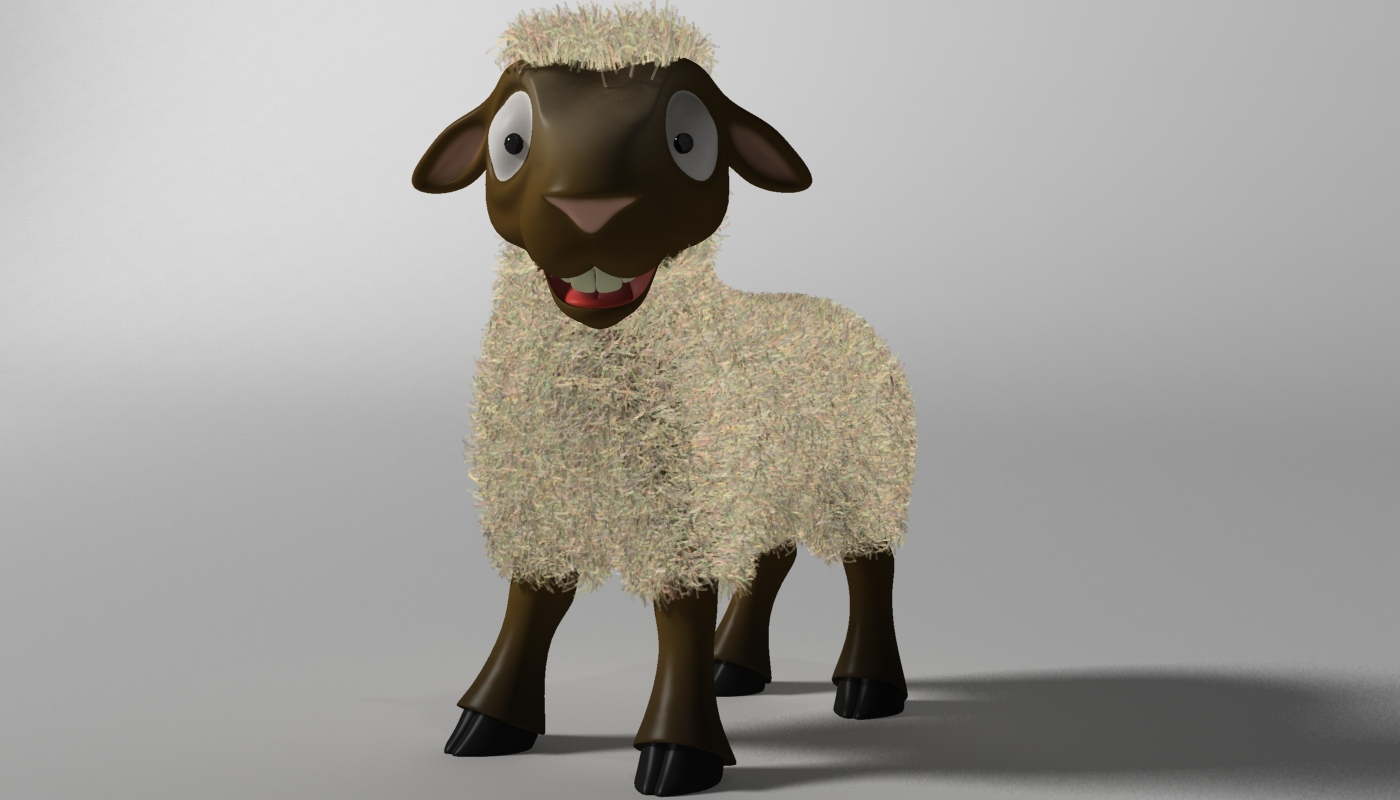cartoon sheep rigged 3d model 3ds max fbx  obj 277465