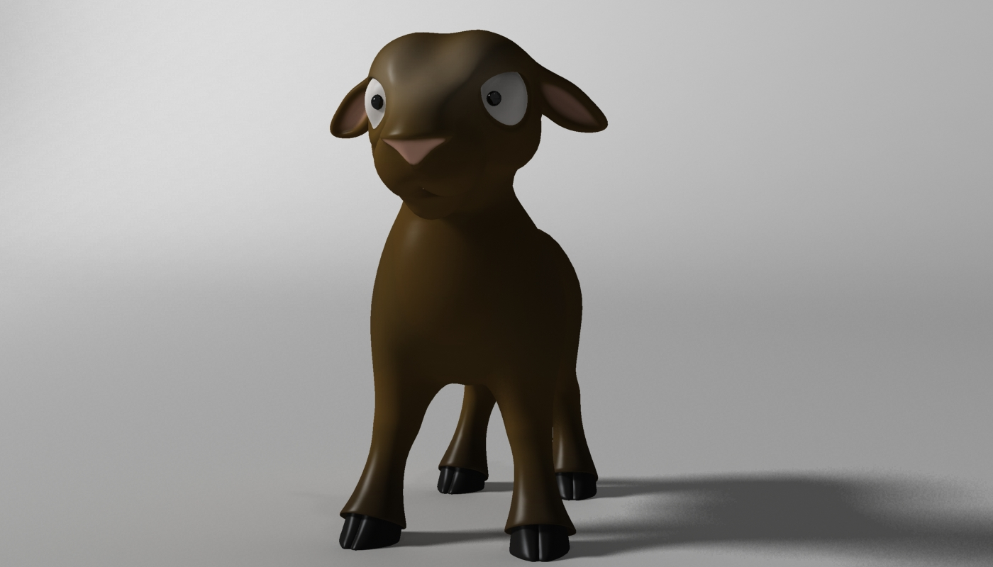 cartoon sheep rigged 3d model 3ds max fbx  obj 277468