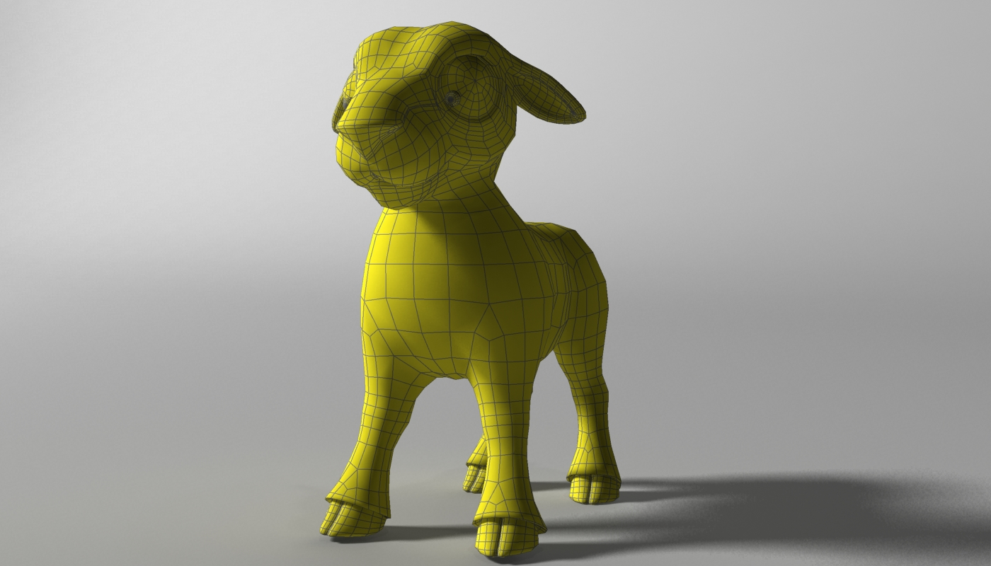 cartoon sheep rigged 3d model 3ds max fbx  obj 277471