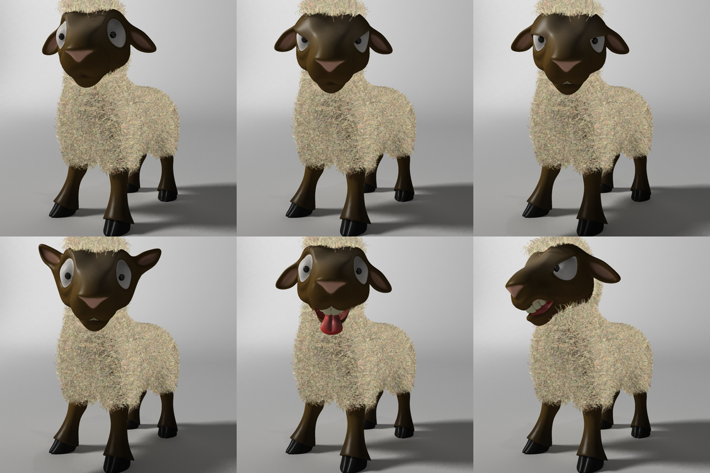 cartoon sheep rigged 3d model 3ds max fbx  obj 277475